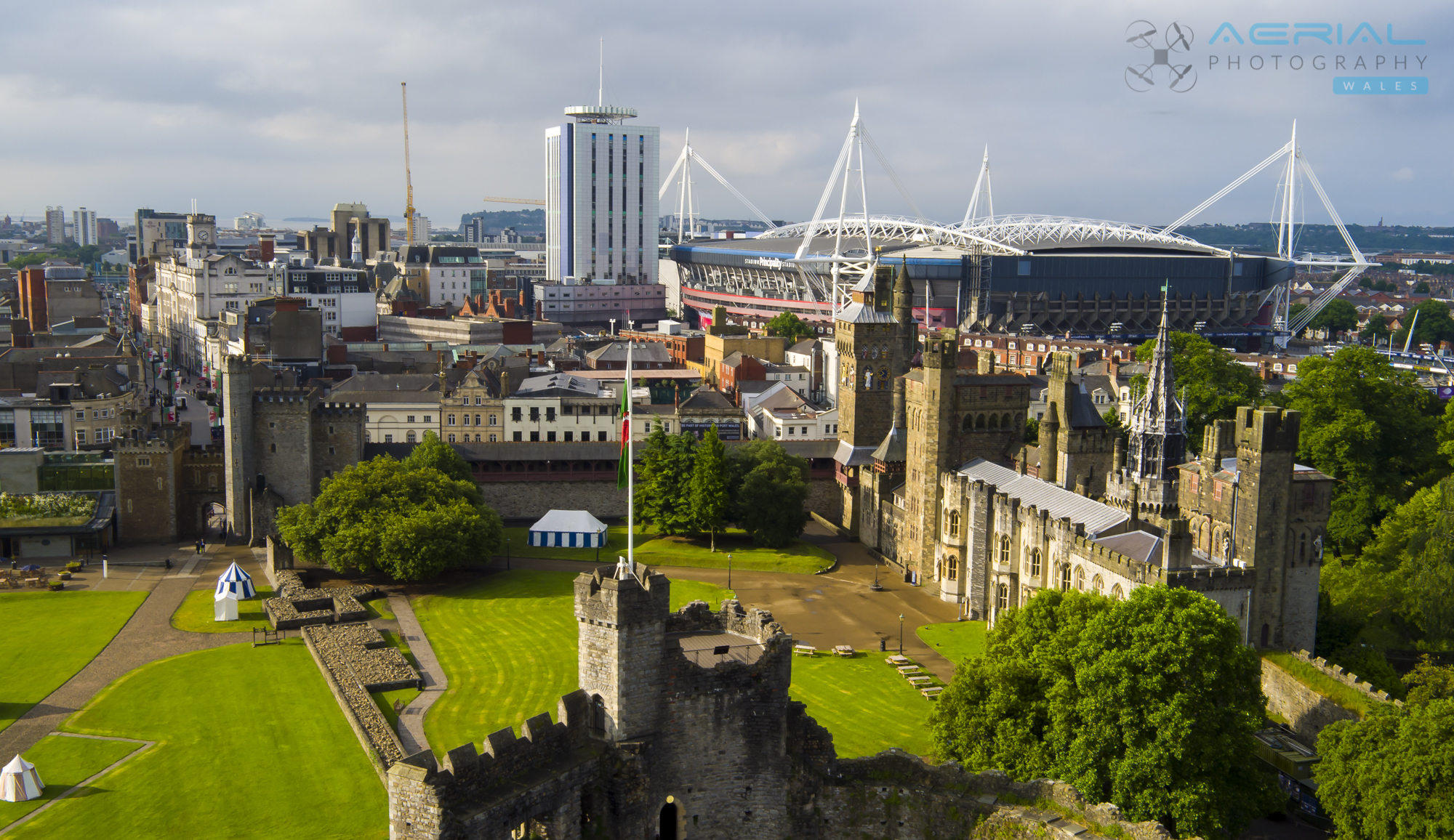 Cardiff Castle-62 - Aerial Photography Wales
