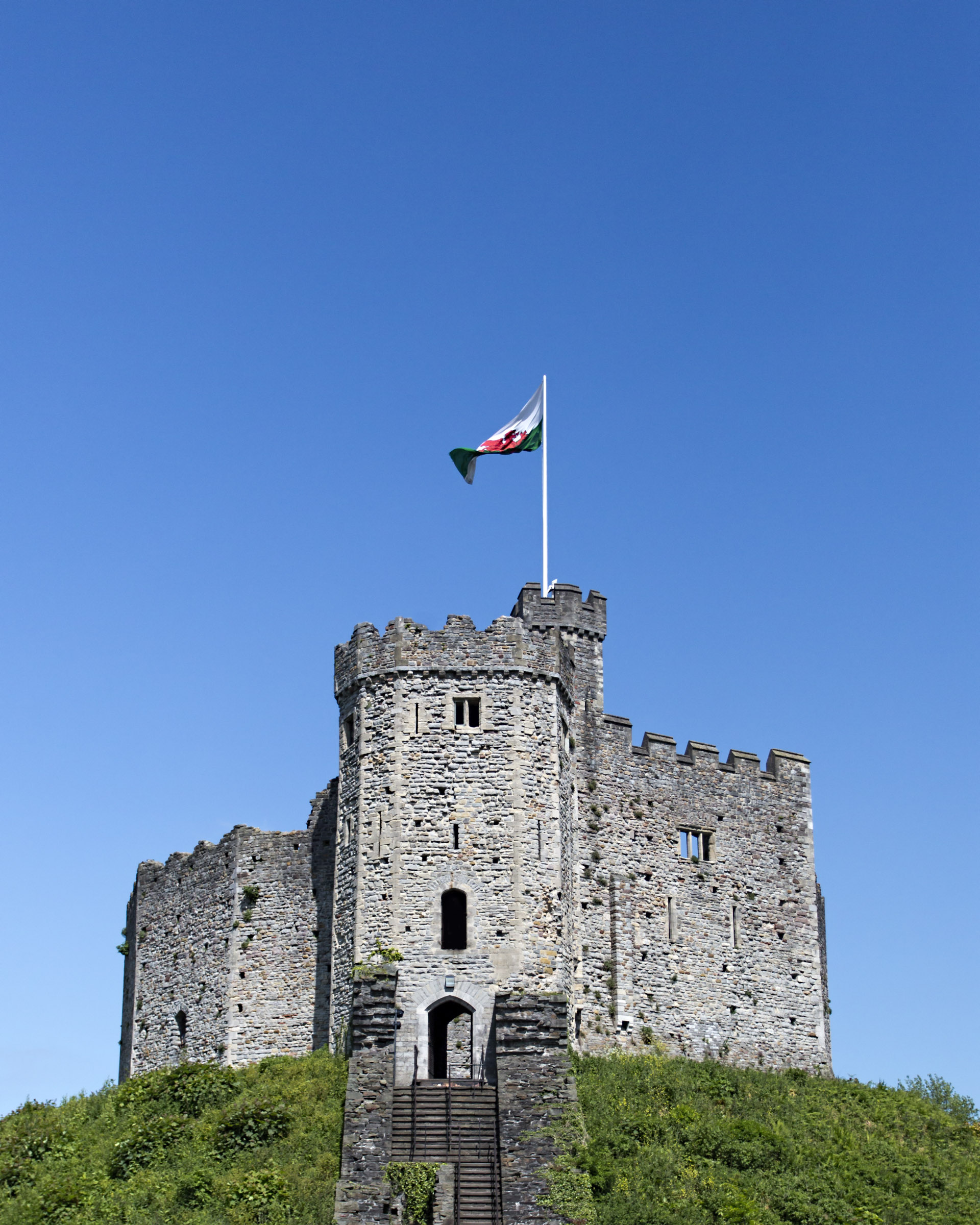 Cardiff Castle, Ancient, Spire, National, Norman, HQ Photo