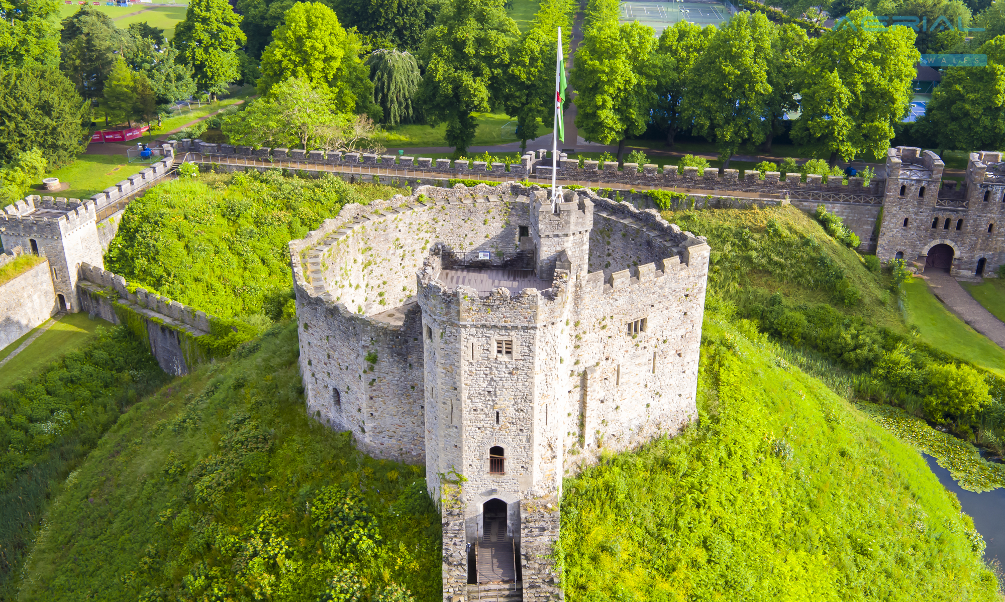Cardiff Castle-46 - Aerial Photography Wales