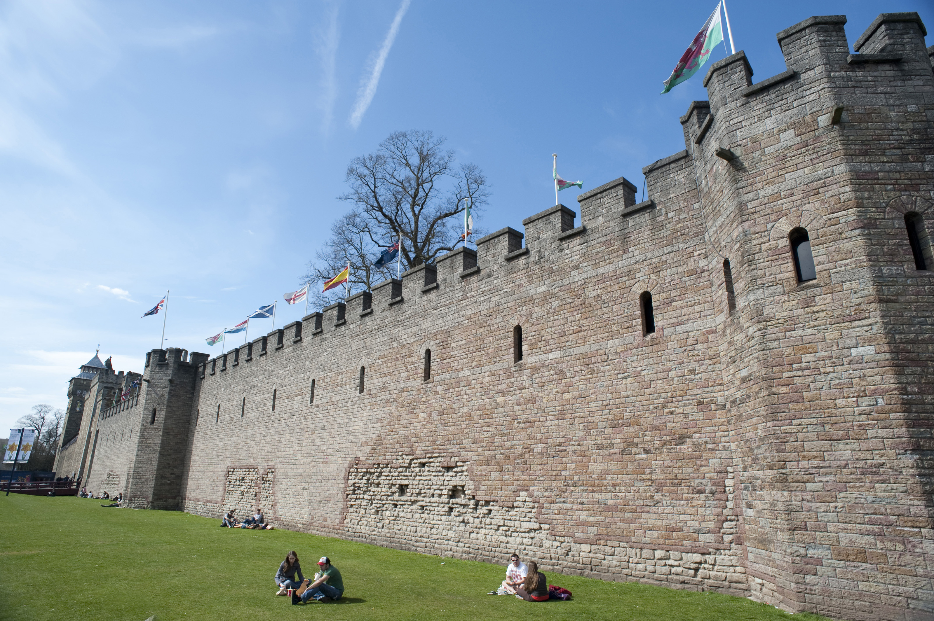 Cardiff Castle walls-7063 | Stockarch Free Stock Photos