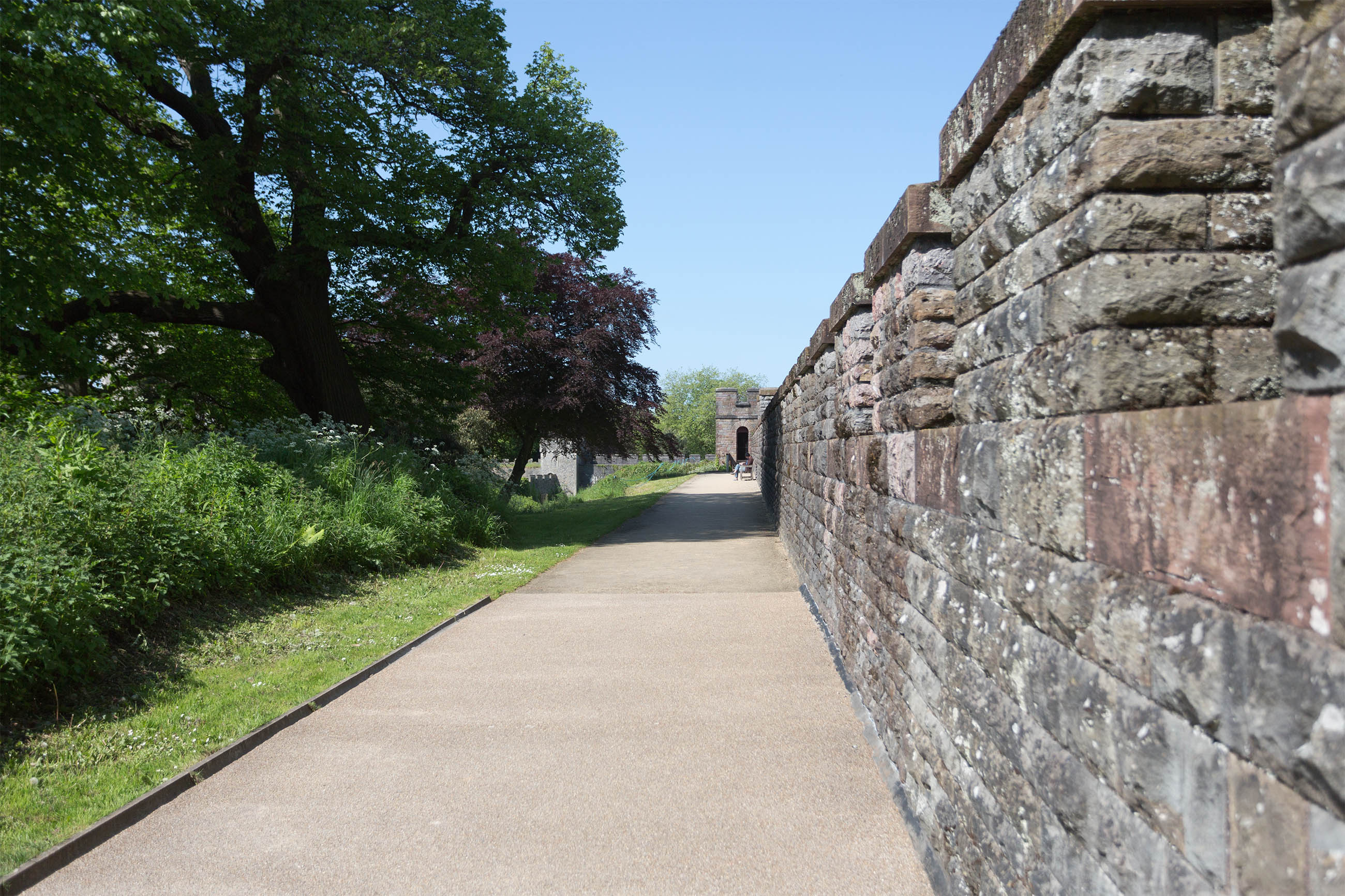 Cardiff Castle Walls, Ancient, Sightseeing, Military, National, HQ Photo