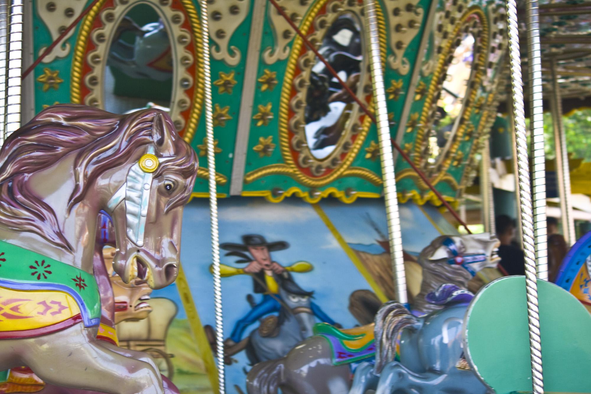 Carousel theme park photo