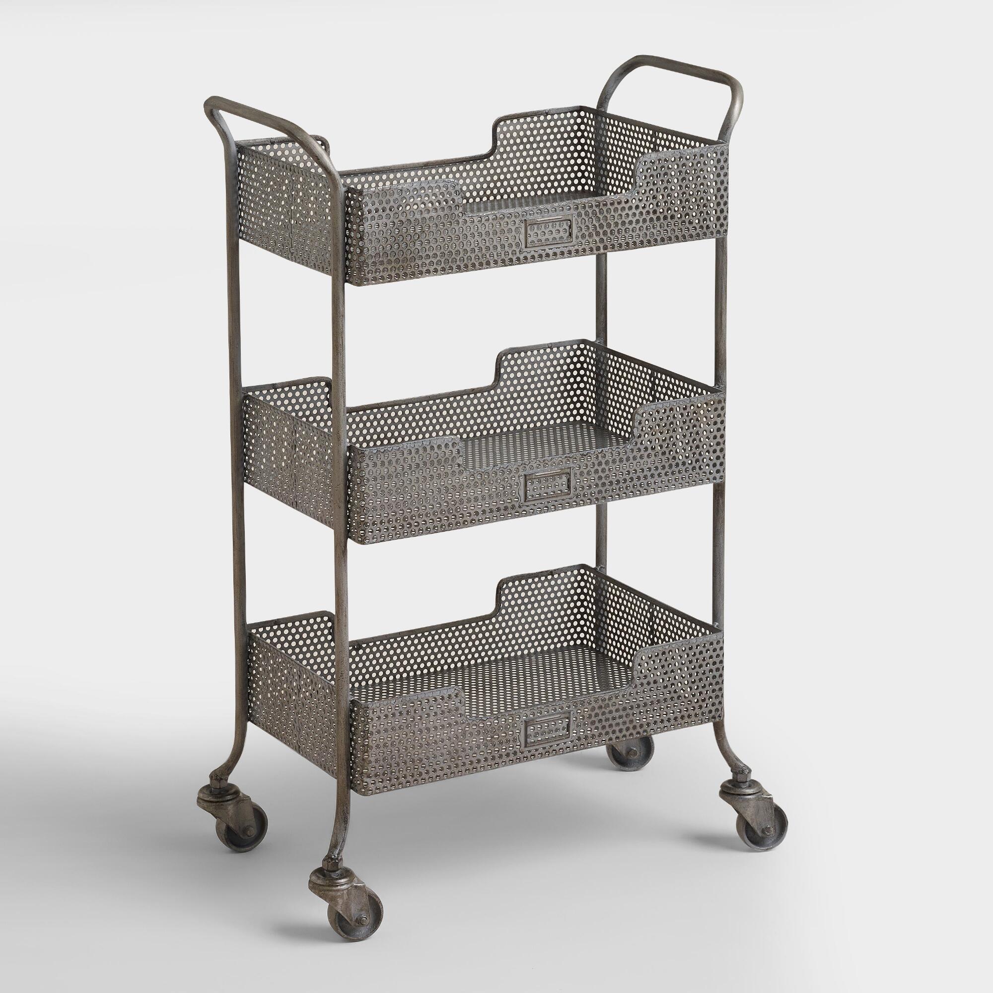 Zinc Yvette Metal Circle Cart | World Market