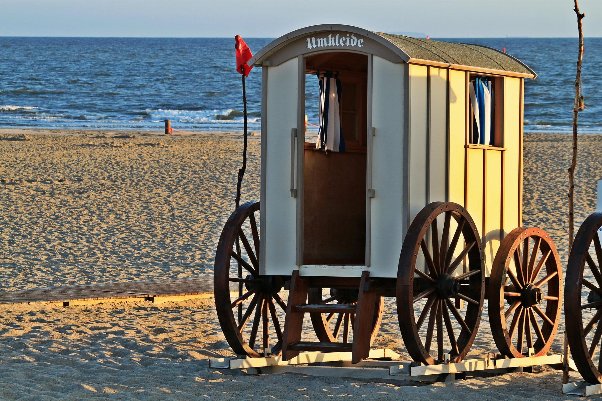 Cart on the beach photo