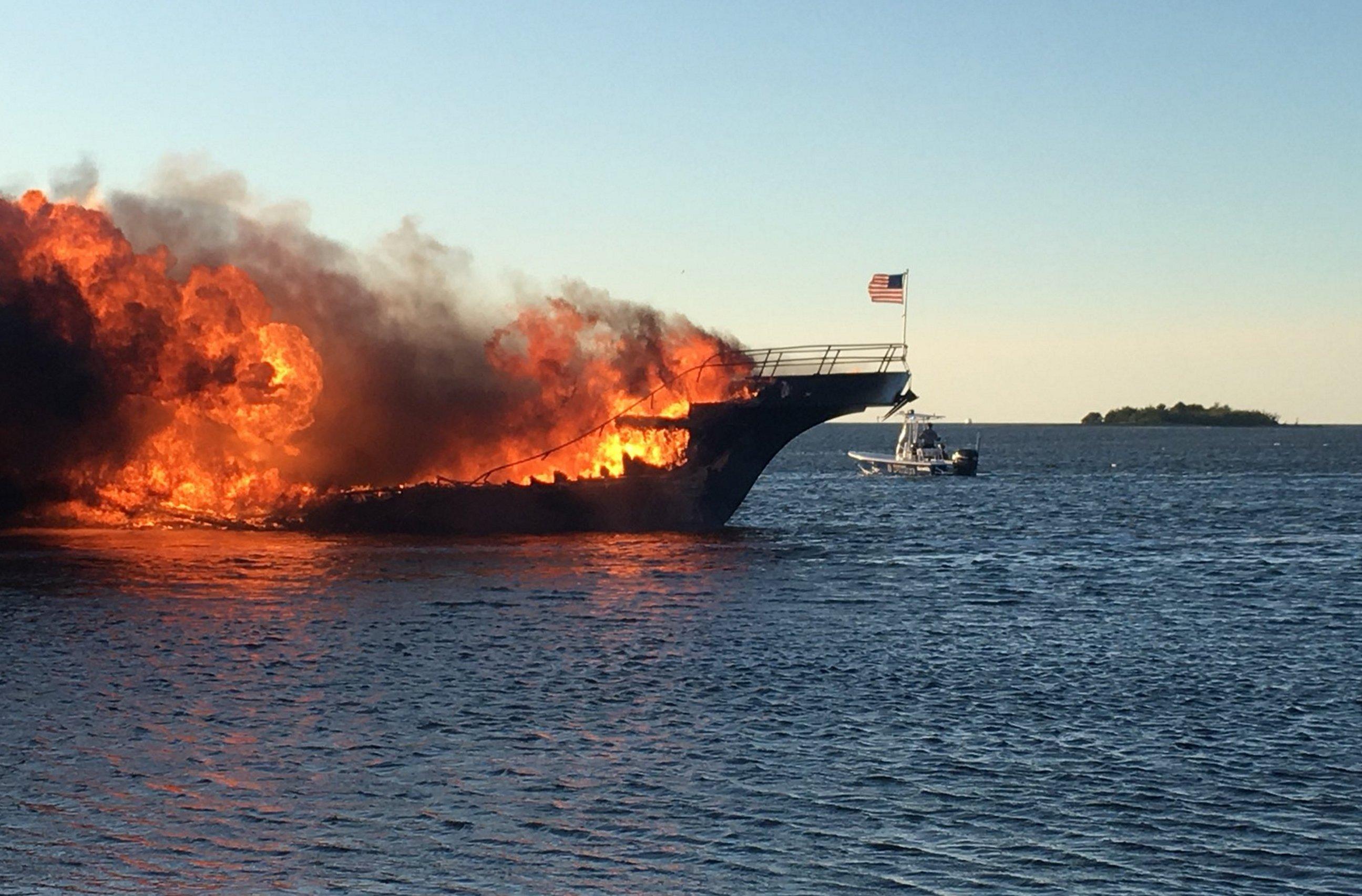 Florida casino shuttle boat bursts into flames, leaving 1 dead