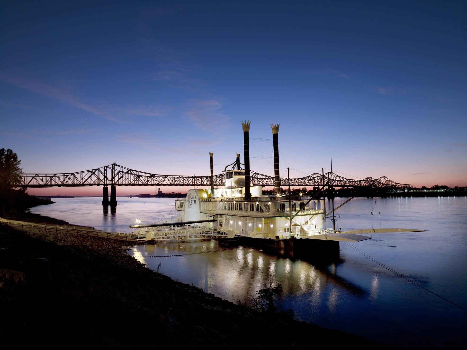 Casino Boat, Boat, Casino, River, Sea, HQ Photo