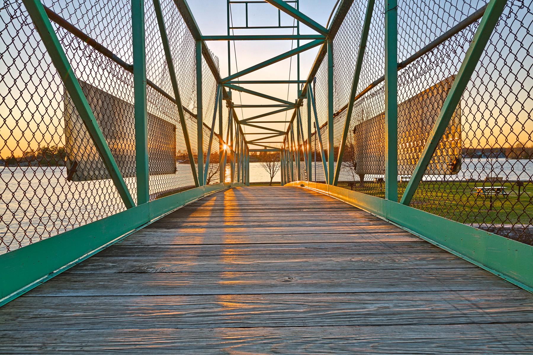 Casino island sunset bridge - hdr photo