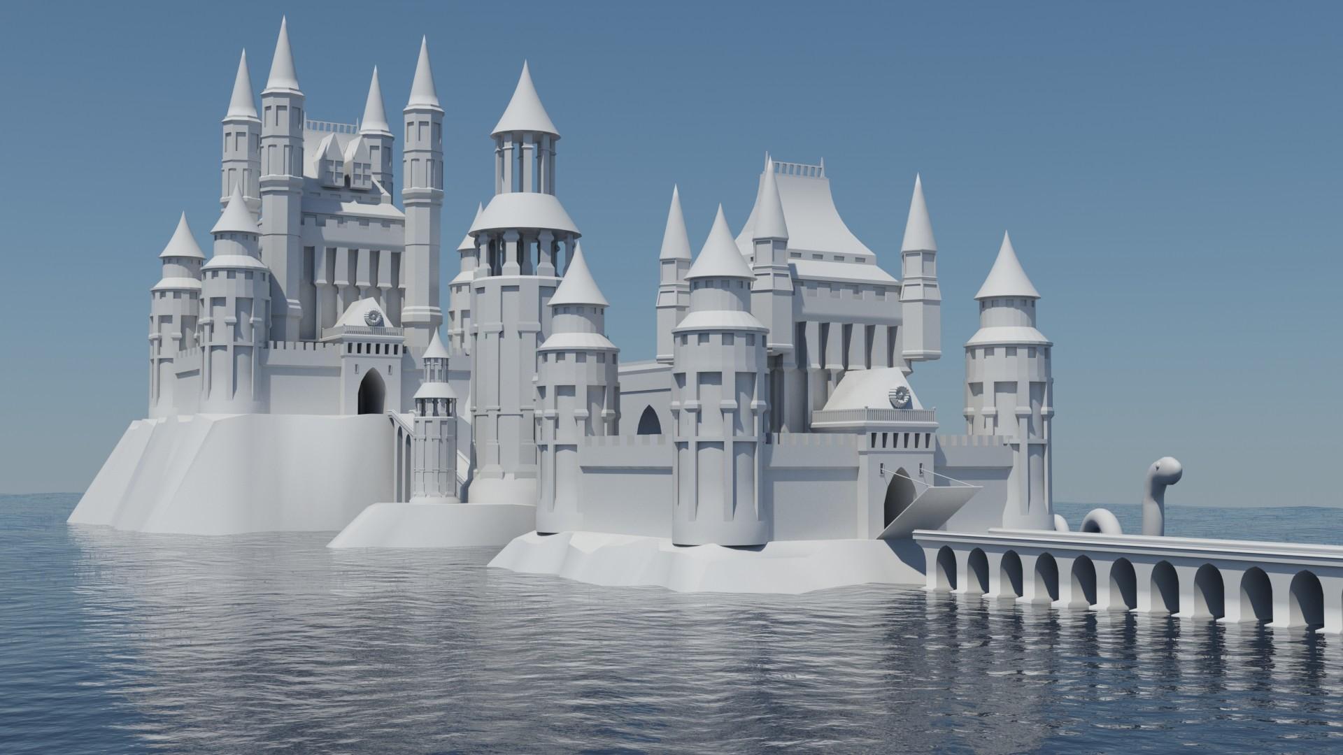 ArtStation - Fantasy Castle Concept Art , Elie Paquiet