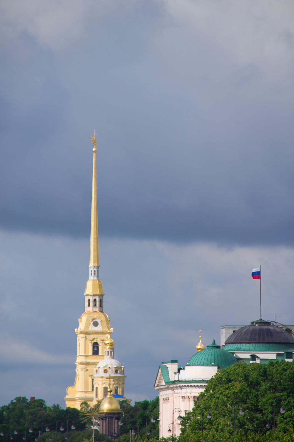 Cathedral spire, Skyline, Sky, Saint, Russia, HQ Photo