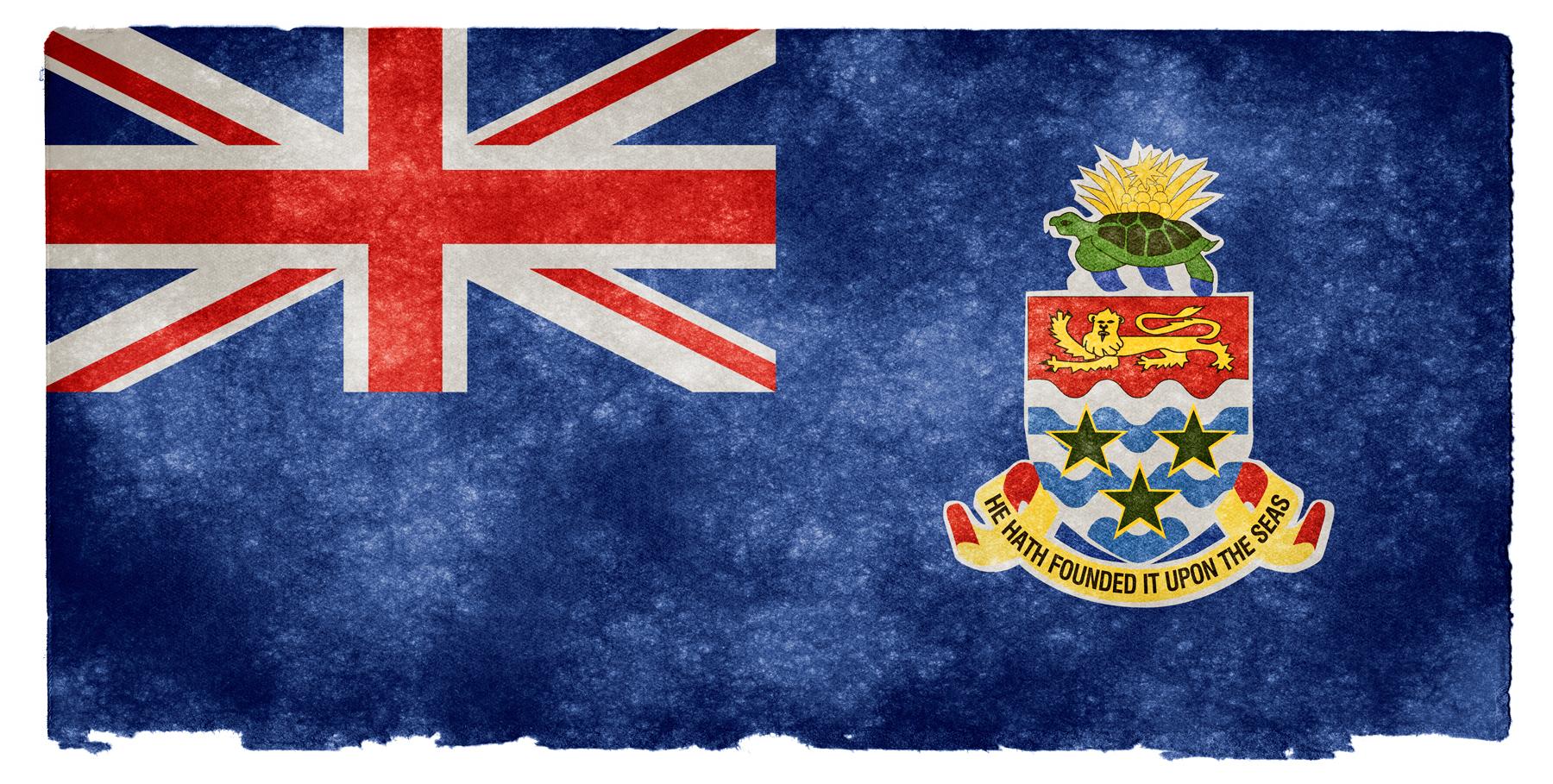 Cayman islands grunge flag photo
