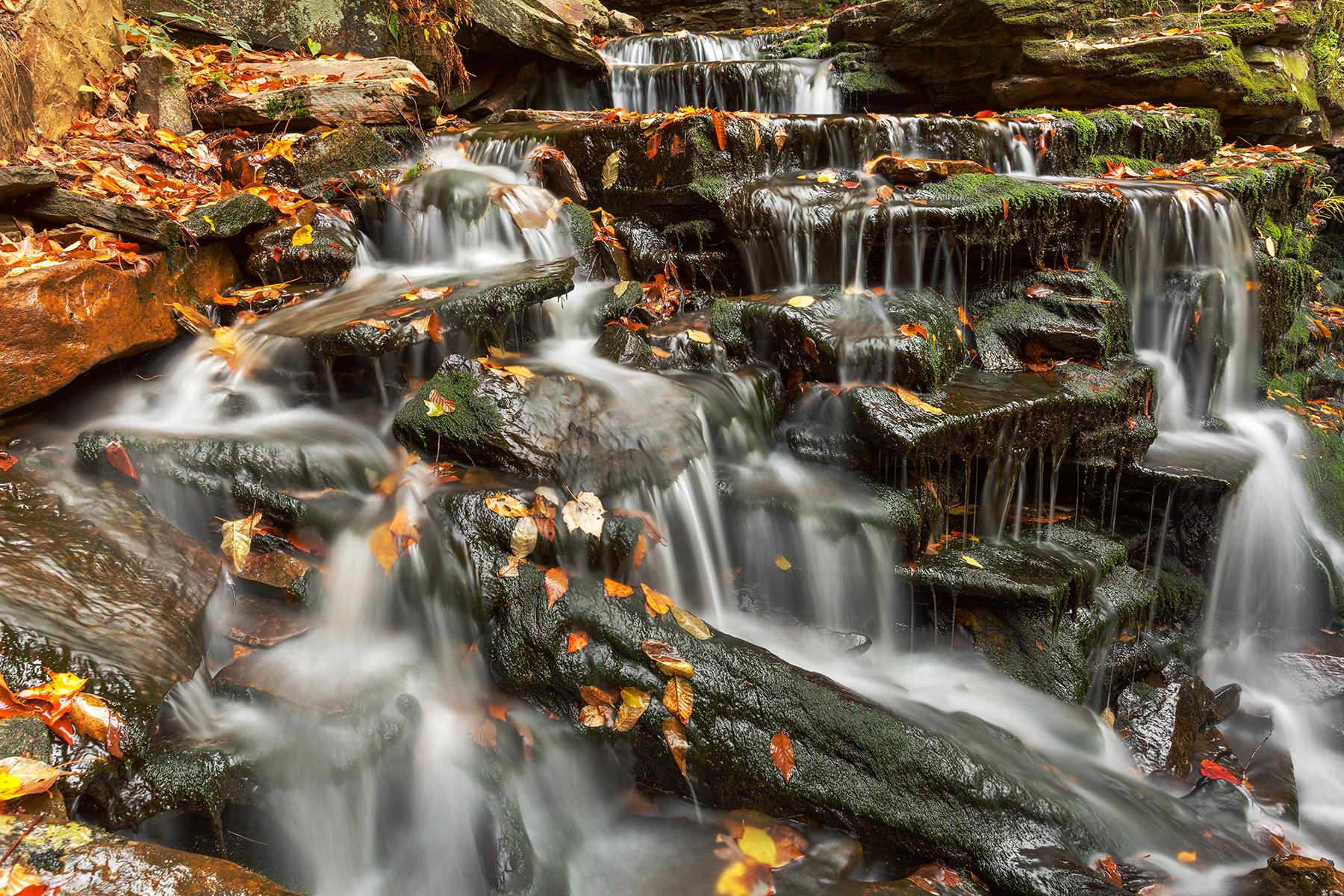 Cayuga Maze Cascades - HDR, America, Pa, Scene, Rocky, HQ Photo