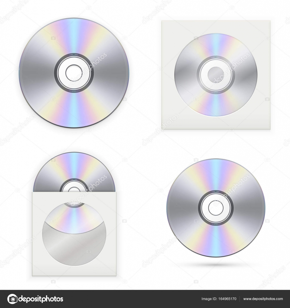 Set of the CD disks — Stock Vector © Farber #164965170