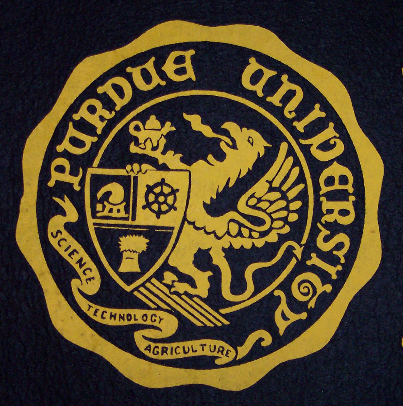 Original Purdue Seal. This was the seal that was on the laundry bag ...
