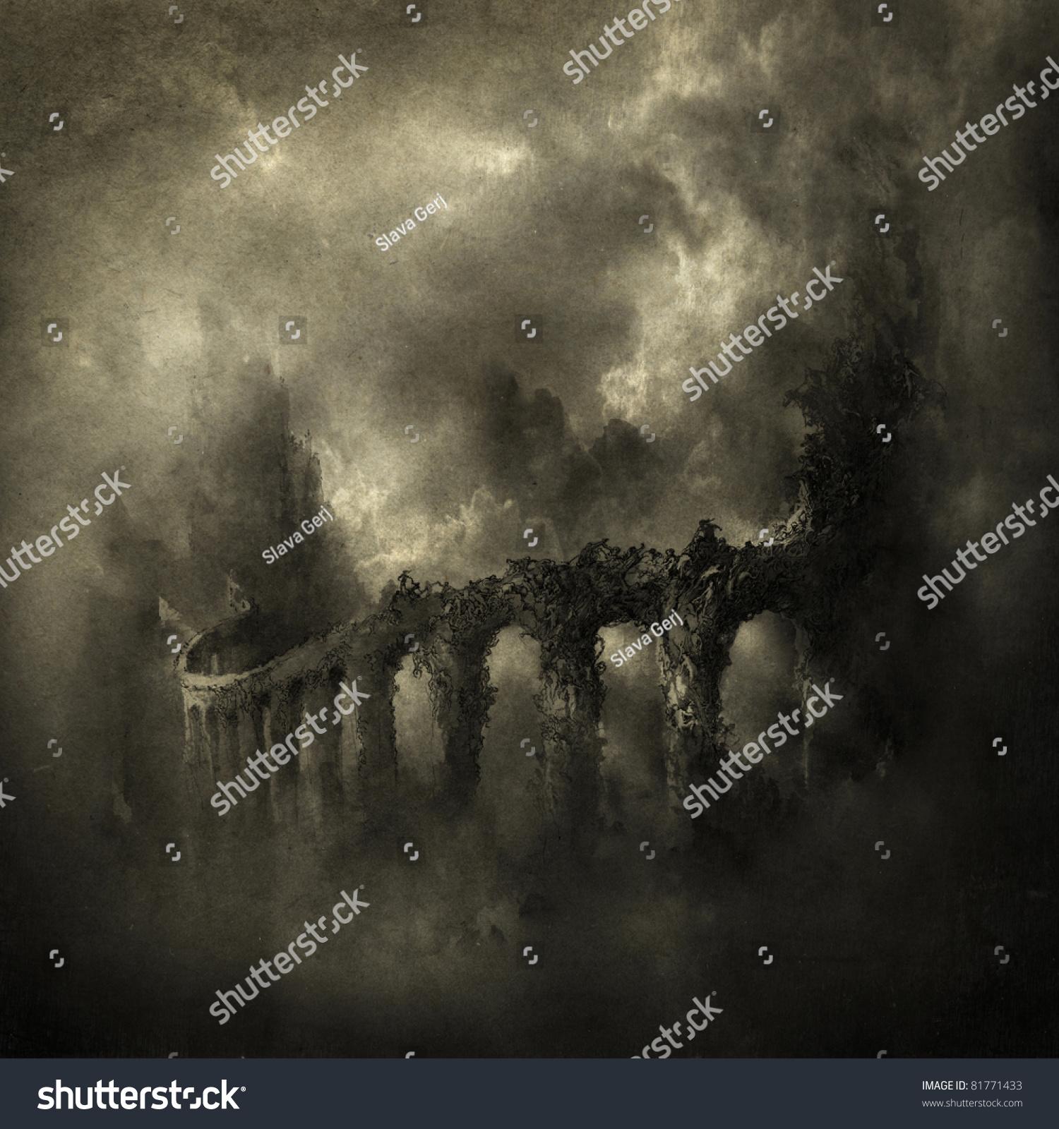 Celestial Bridge Stock Illustration 81771433 - Shutterstock