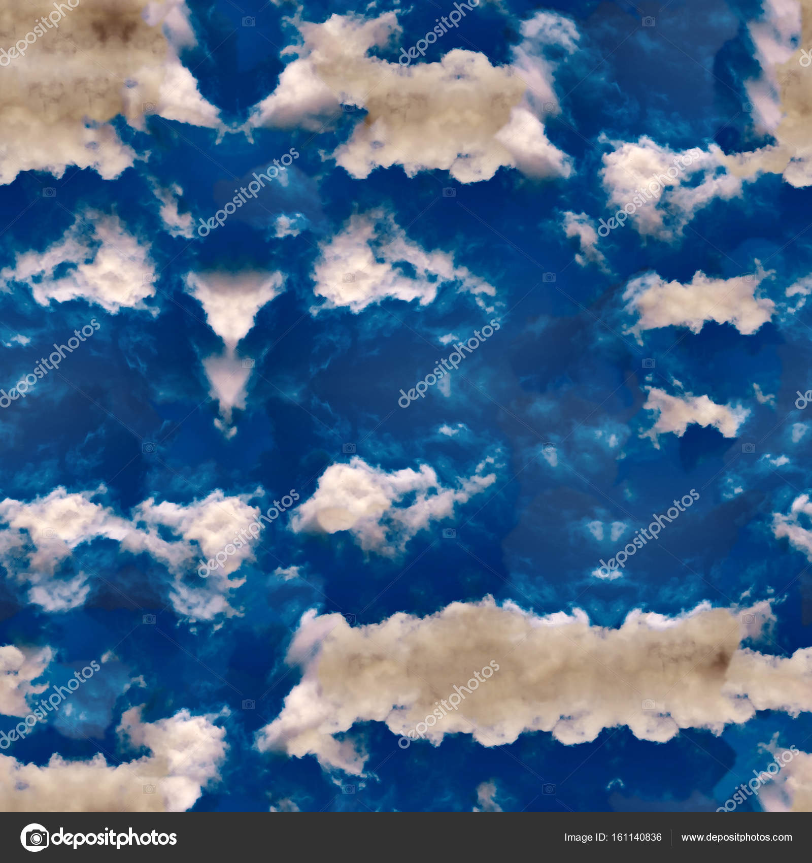 Abstract celestial blue seamless pattern. Skiey background. — Stock ...