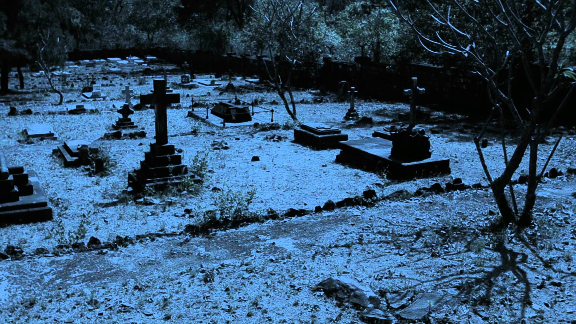 graveyard at night .... - YouTube