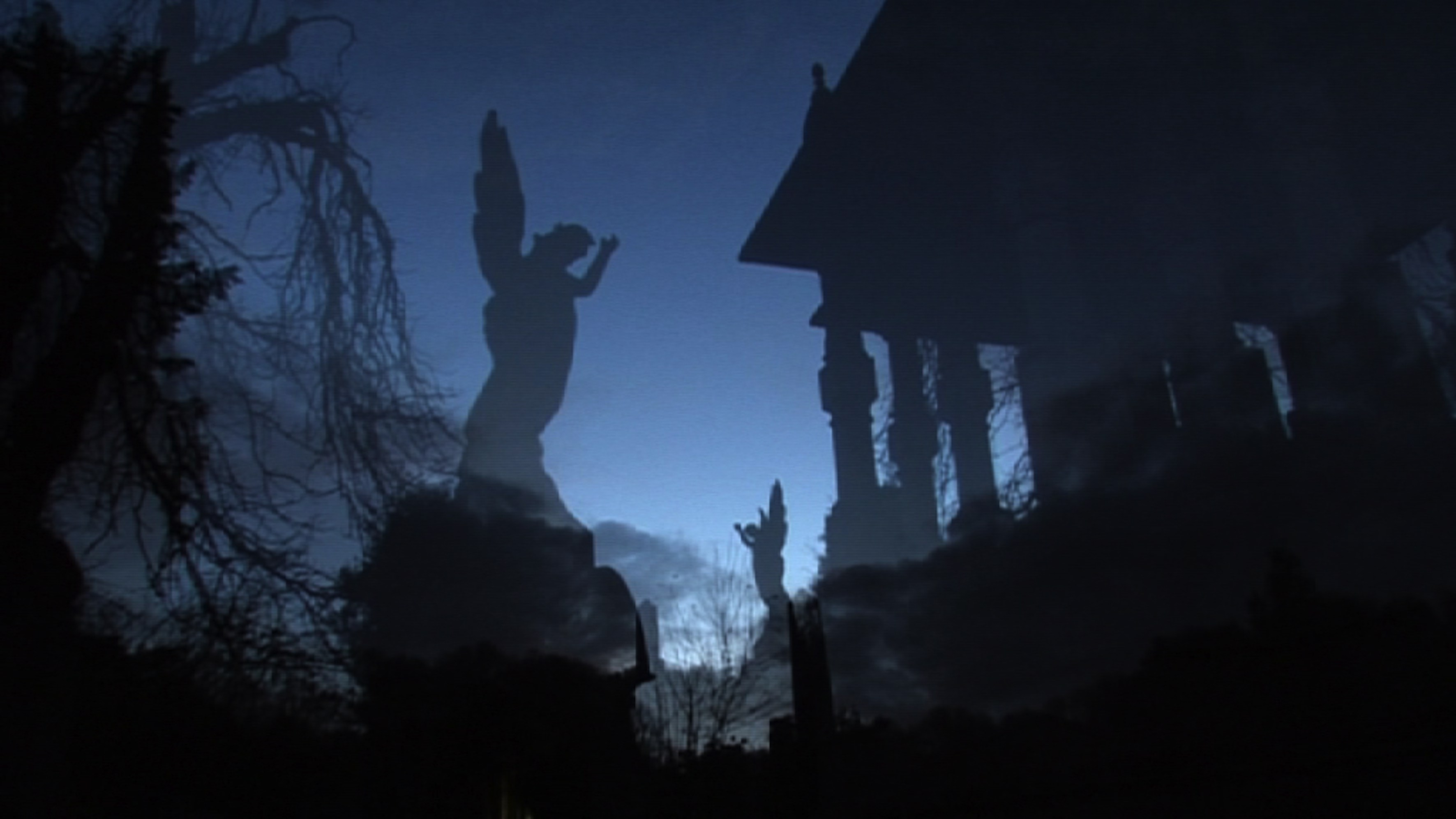 Arnos Vale Cemetery Stone Angels at Night – Future Cemetery