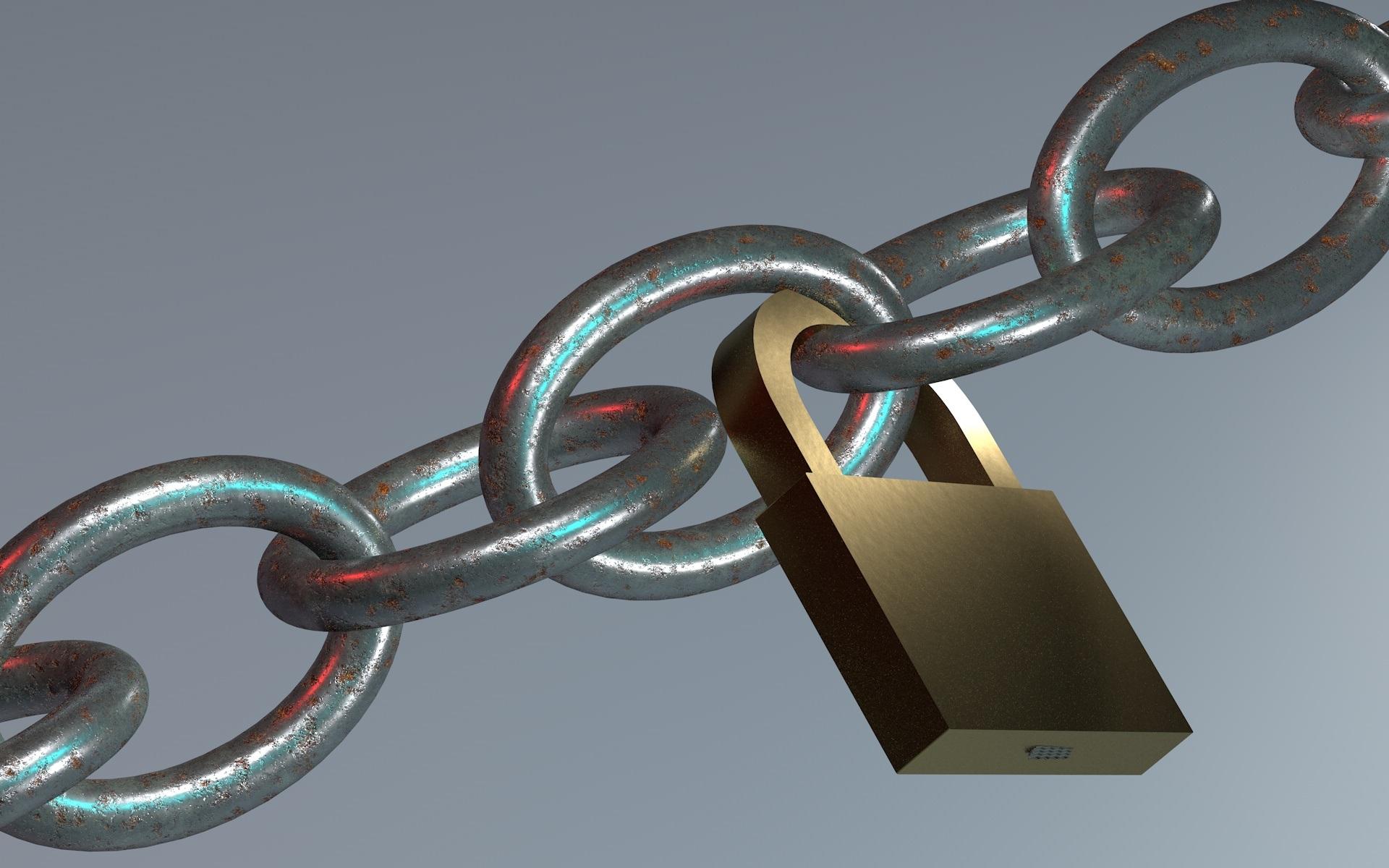 Chain and Lock, Chain, Closed, Graduated, Lock, HQ Photo