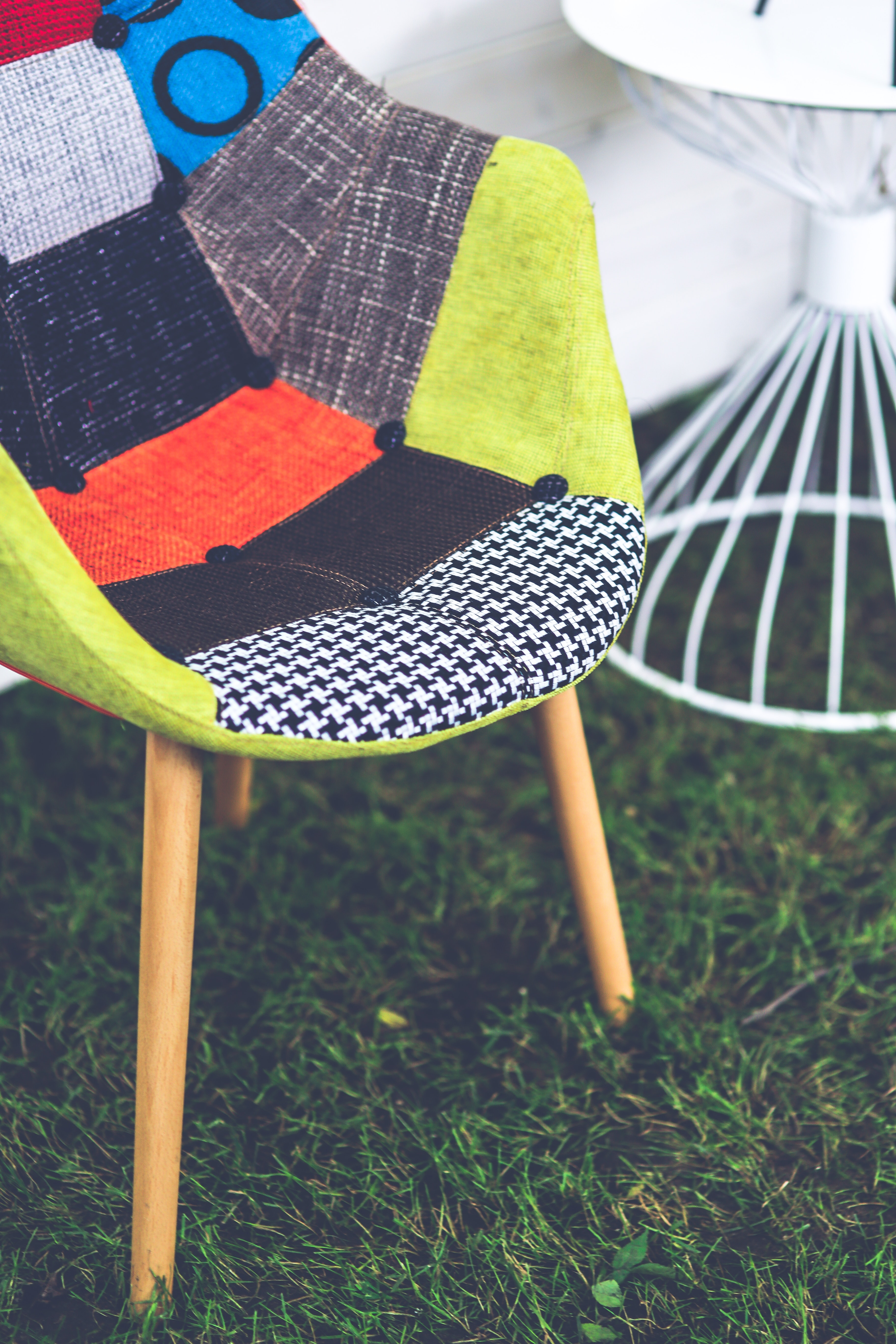 Chair, Bright, Outdoors, Wood, Texture, HQ Photo