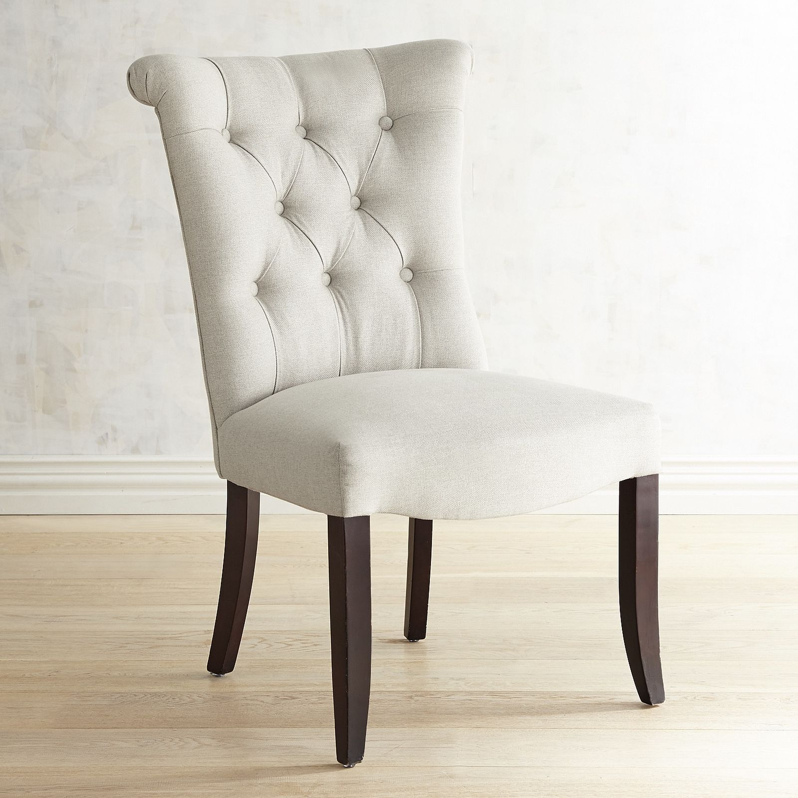 Colette Flax Dining Chair with Espresso Legs | Pier 1 Imports