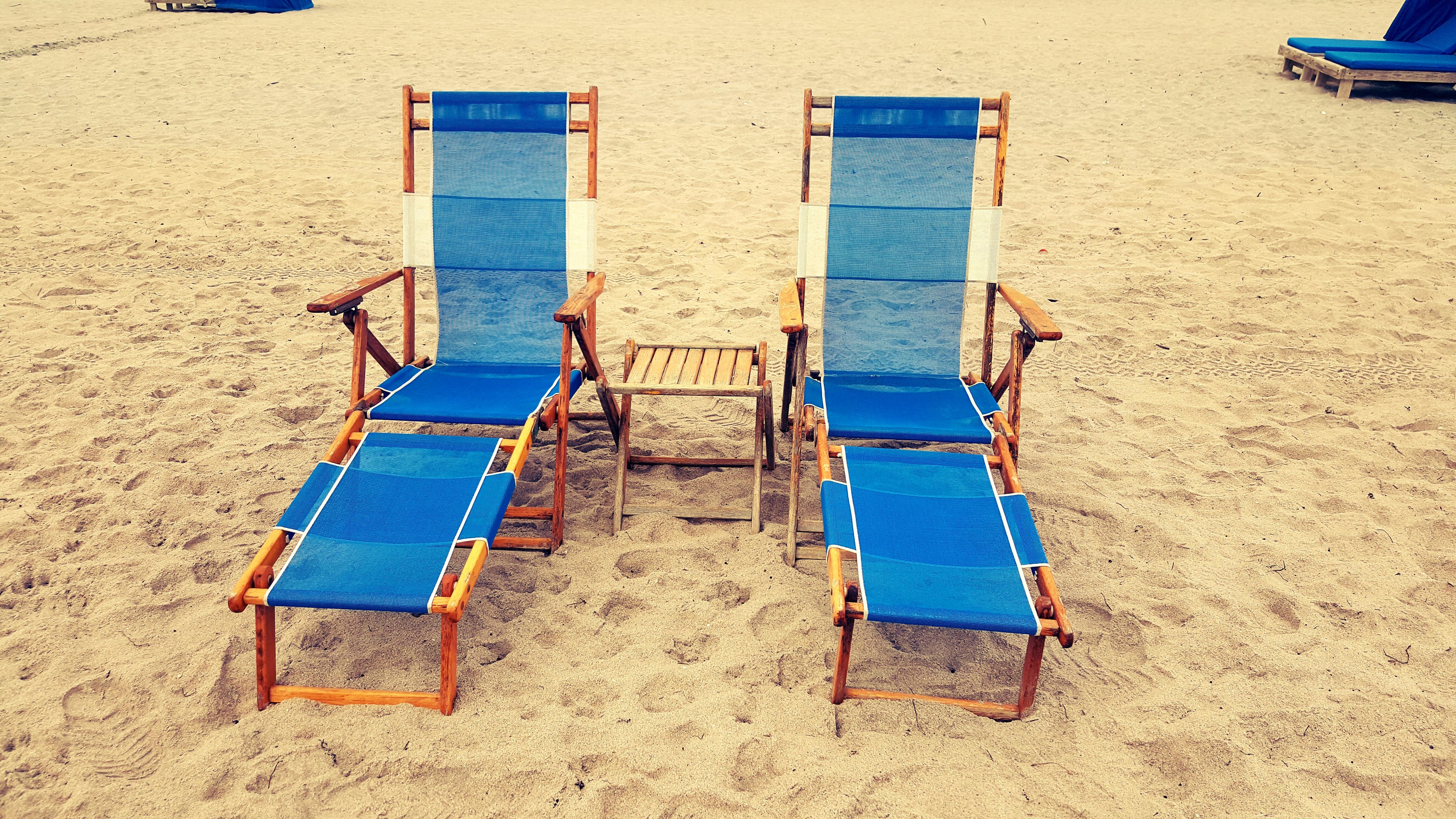 Chair on sand photo