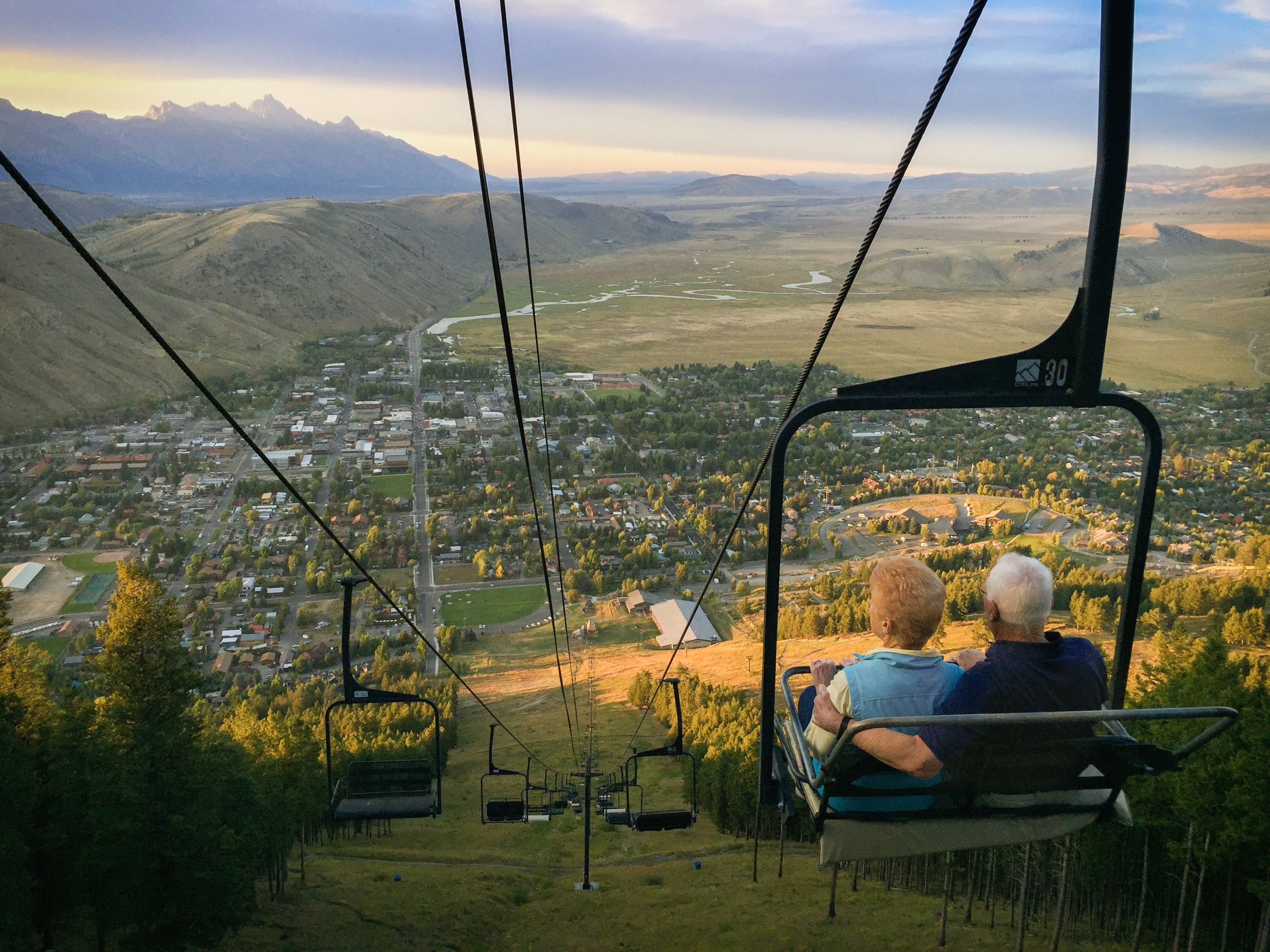 Chairlift ride photo