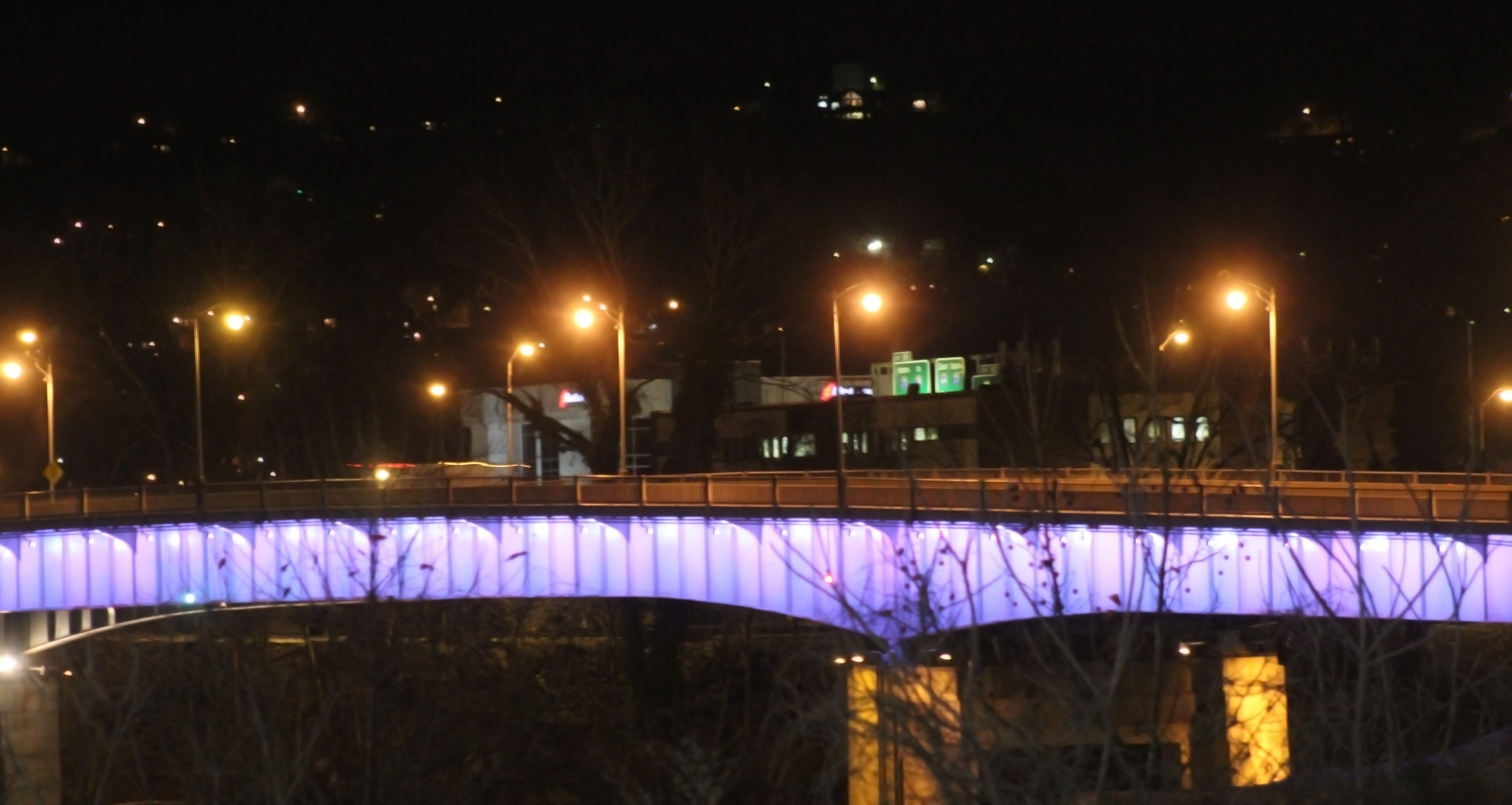 Charleston WV Bridge 2, Bridge, Charleston, Lights, Night, HQ Photo