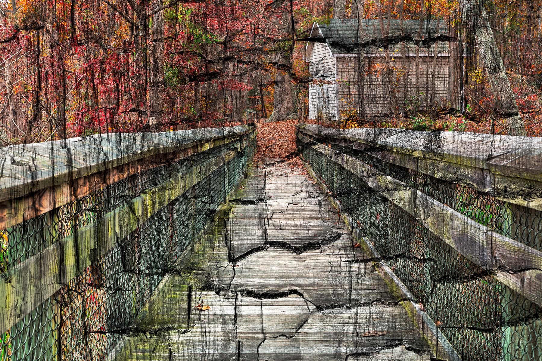 Charred Autumn Boardwalk, Age, Rail, State, Shack, HQ Photo