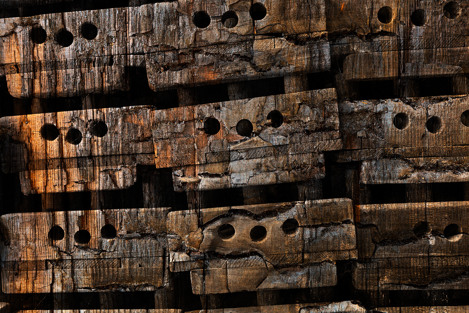 Charred Wood Boxes, Abandoned, Line, Old, Objects, HQ Photo