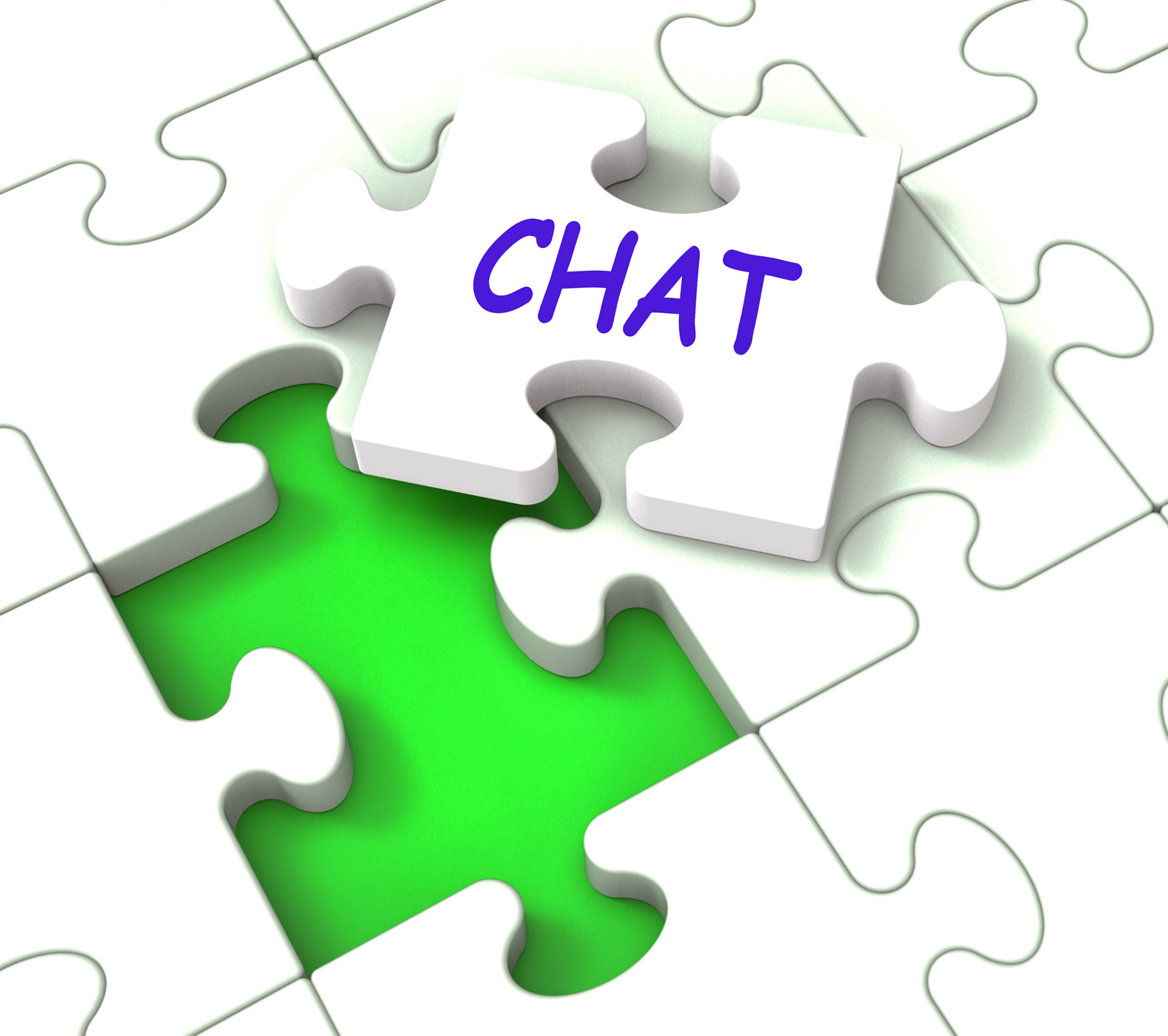 Chat Jigsaw Shows Chatting Talking Typing Or Texting, Call, Chat, Chatting, Communicate, HQ Photo
