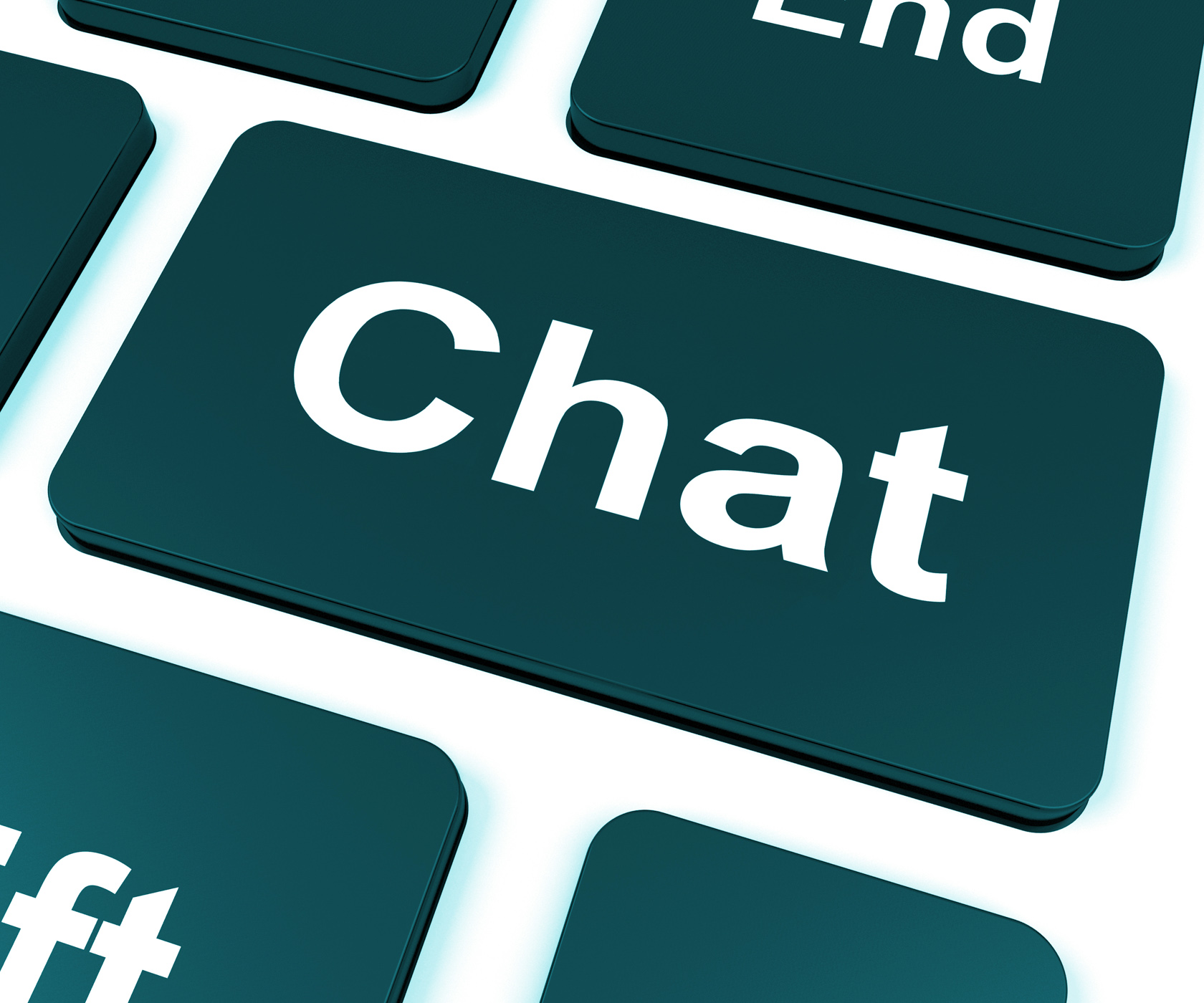 Chat Key Shows Talking Typing Or Texting, Call, Phone, Type, Text, HQ Photo