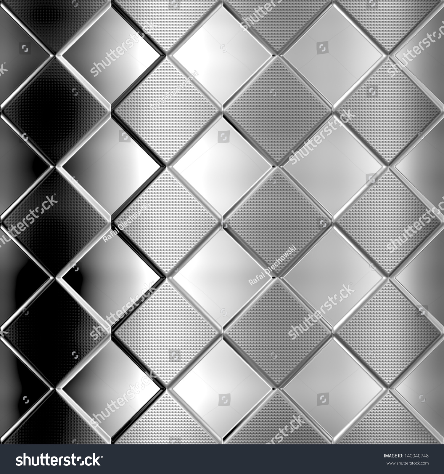 Checked metal background photo