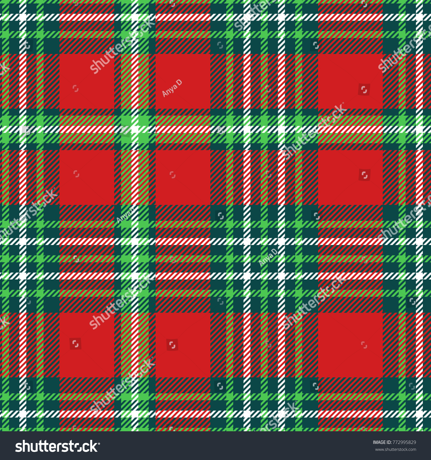 Seamless Plaid Pattern Checkered Fabric Texture Stock Vector ...