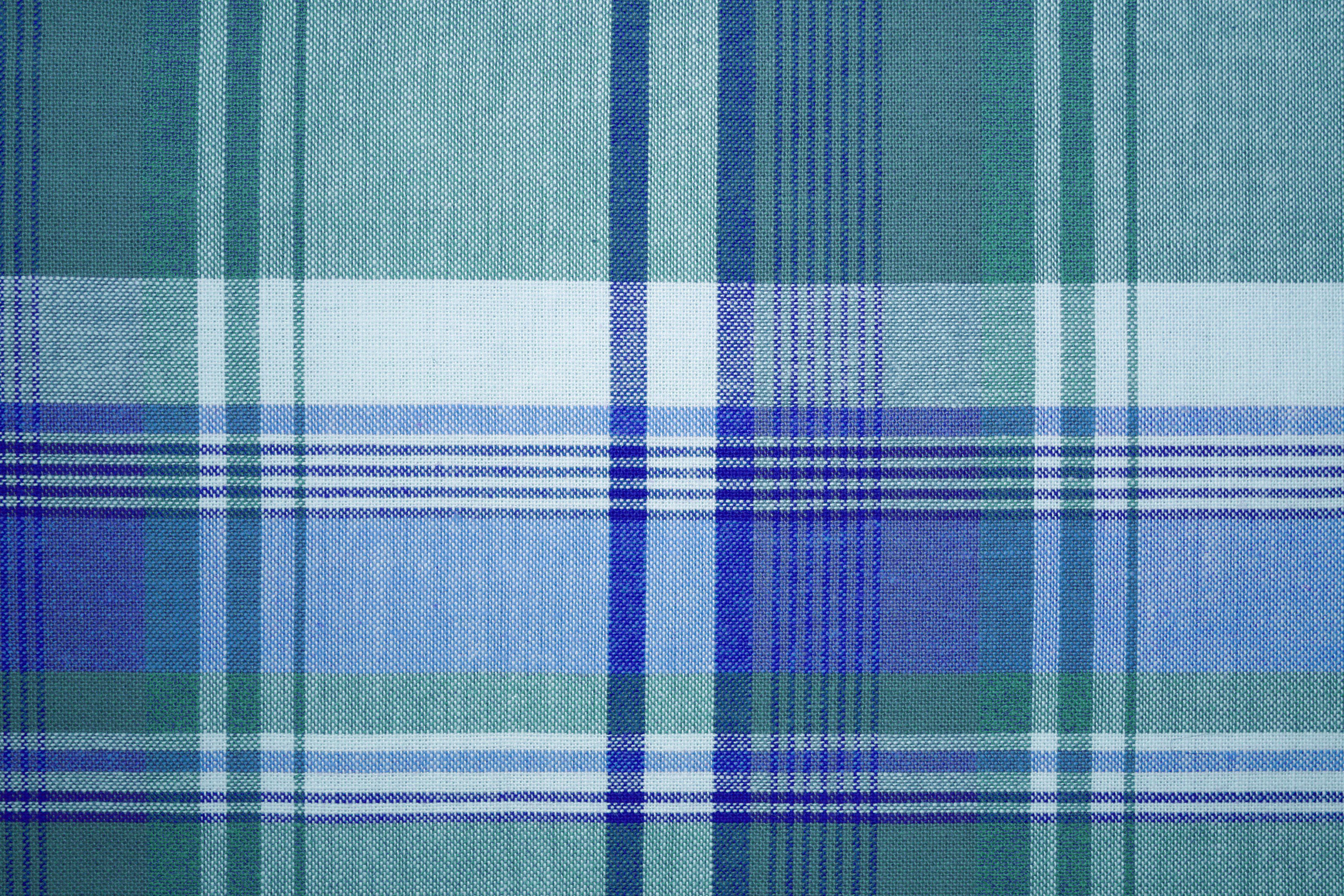 Blue Green Colored Plaid Fabric Texture | Favorite Home Decor ...