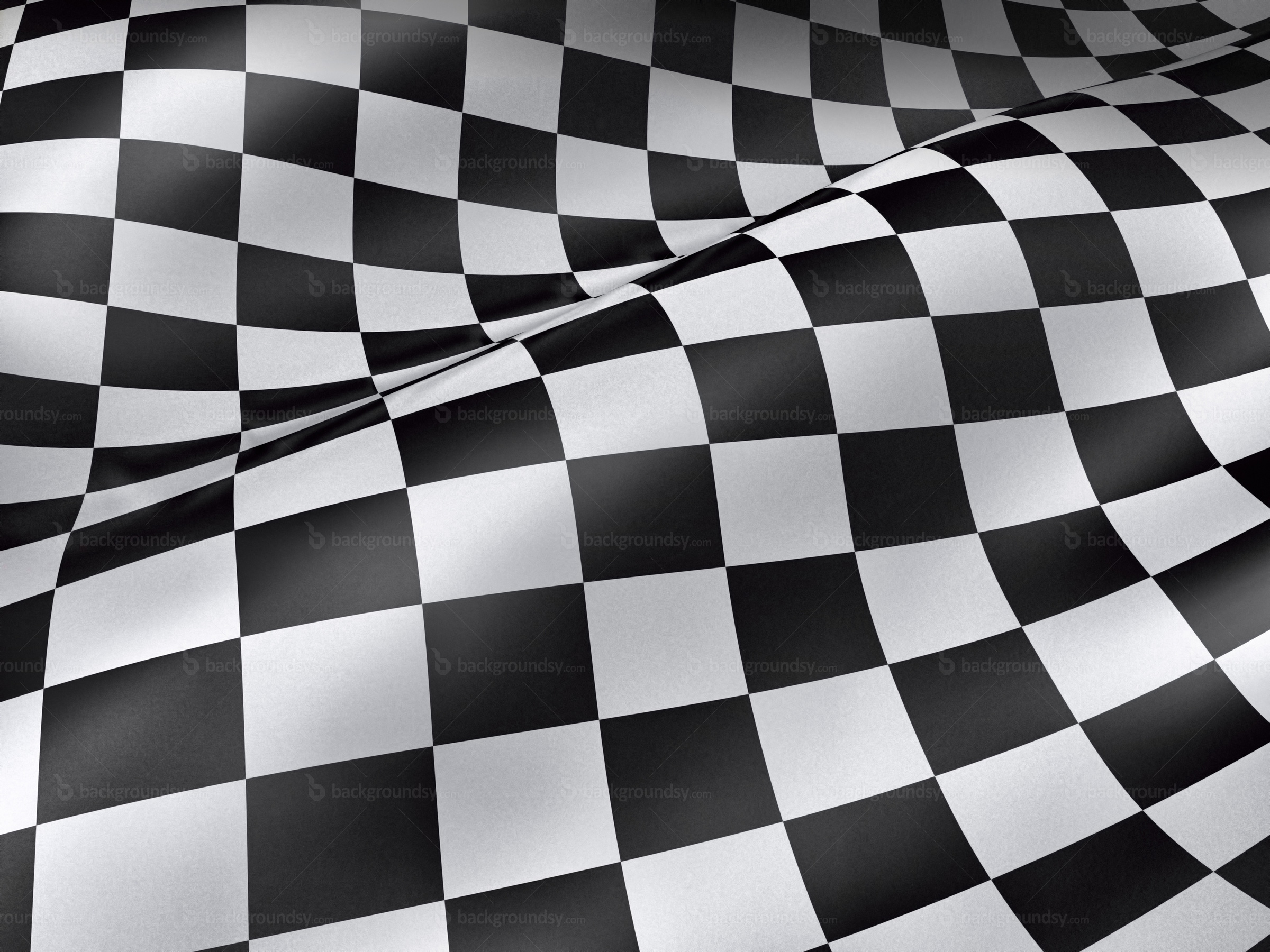 Checkered grunge flag photo