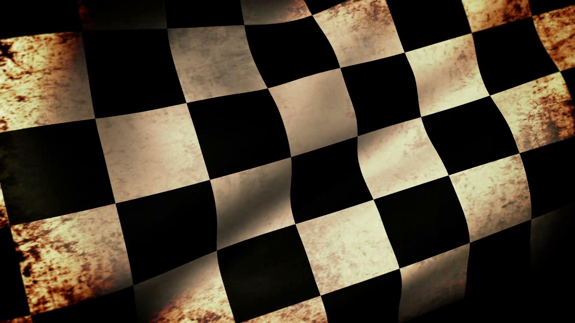 Checkered Flag Waving, grunge look Motion Background - Videoblocks
