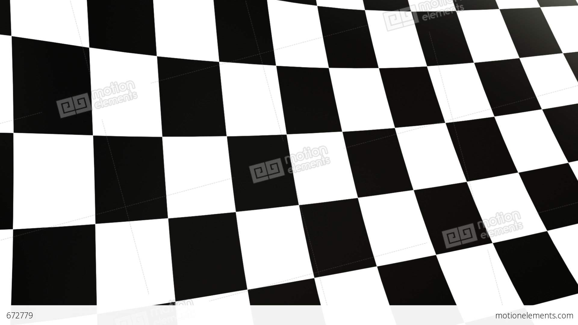 Close Up Checkered Flag Stock Animation   672779