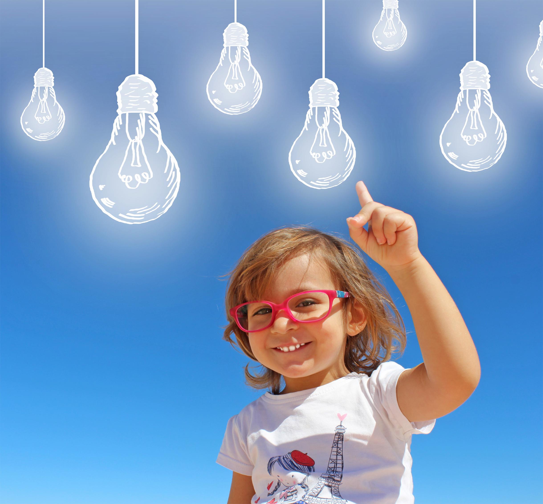 Cheerful Smiling Child Having Ideas - Creativity and Imagination, Answer, Little, Pretty, Portrait, HQ Photo
