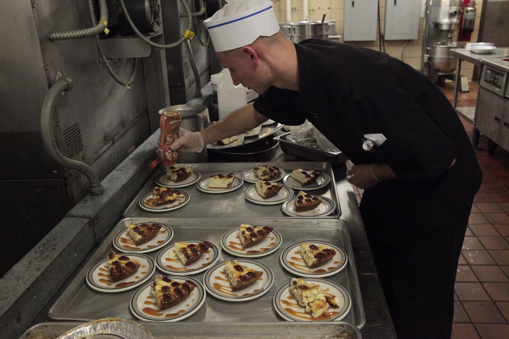Chef at restaurant photo