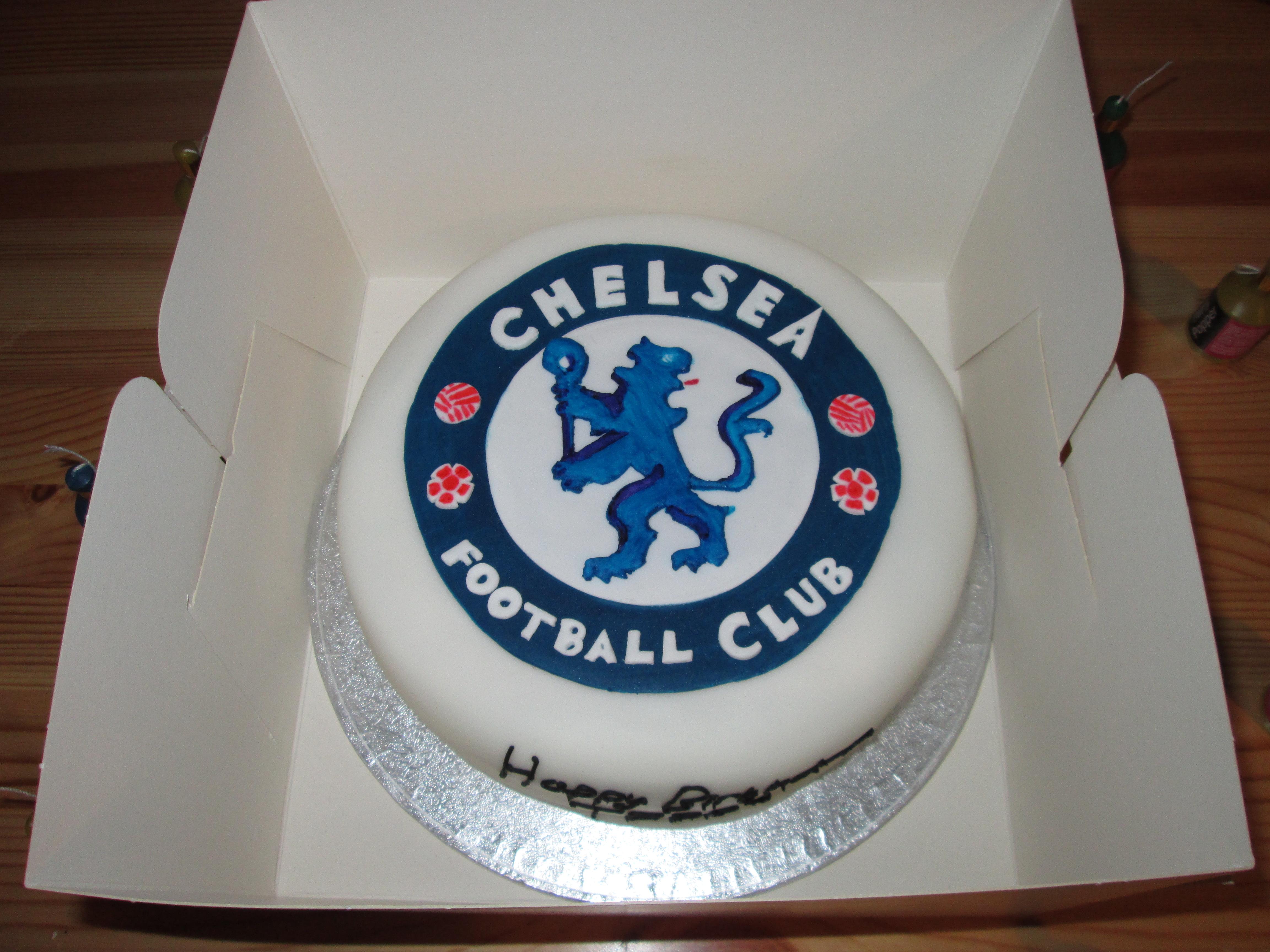 Stupendous Free Photo Chelsea Football Club Cake Club Cream Free Personalised Birthday Cards Veneteletsinfo