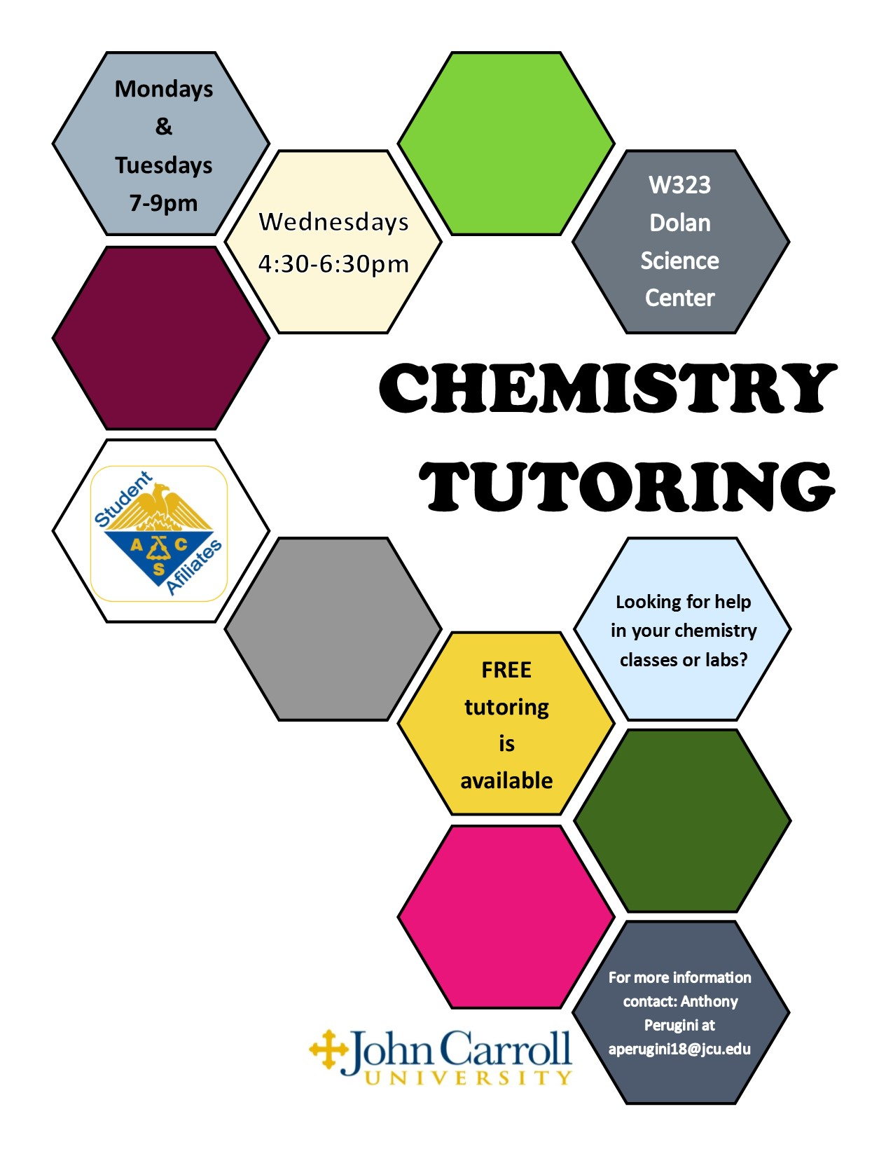 Chemistry Tutoring Available – Department of Chemistry
