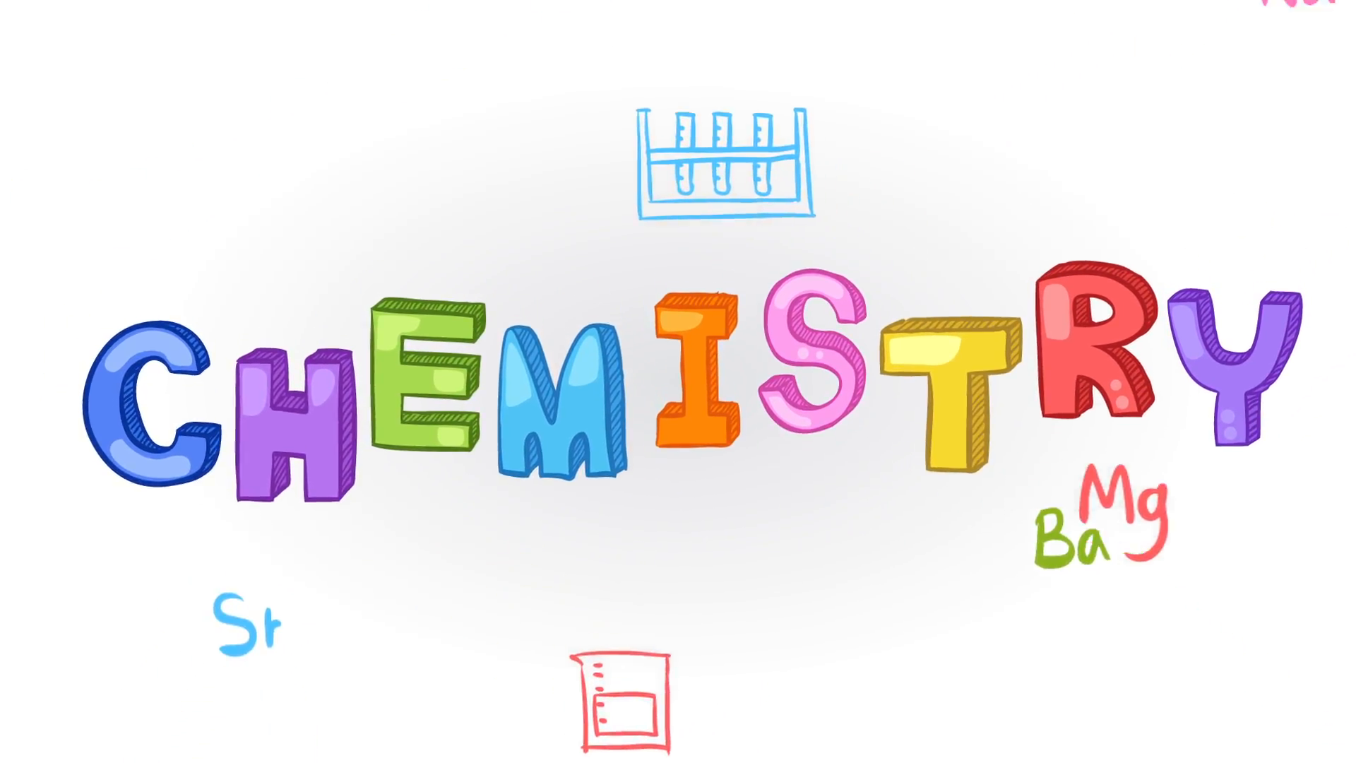 Animation of chemistry subject with chemical laboratory tool icon ...