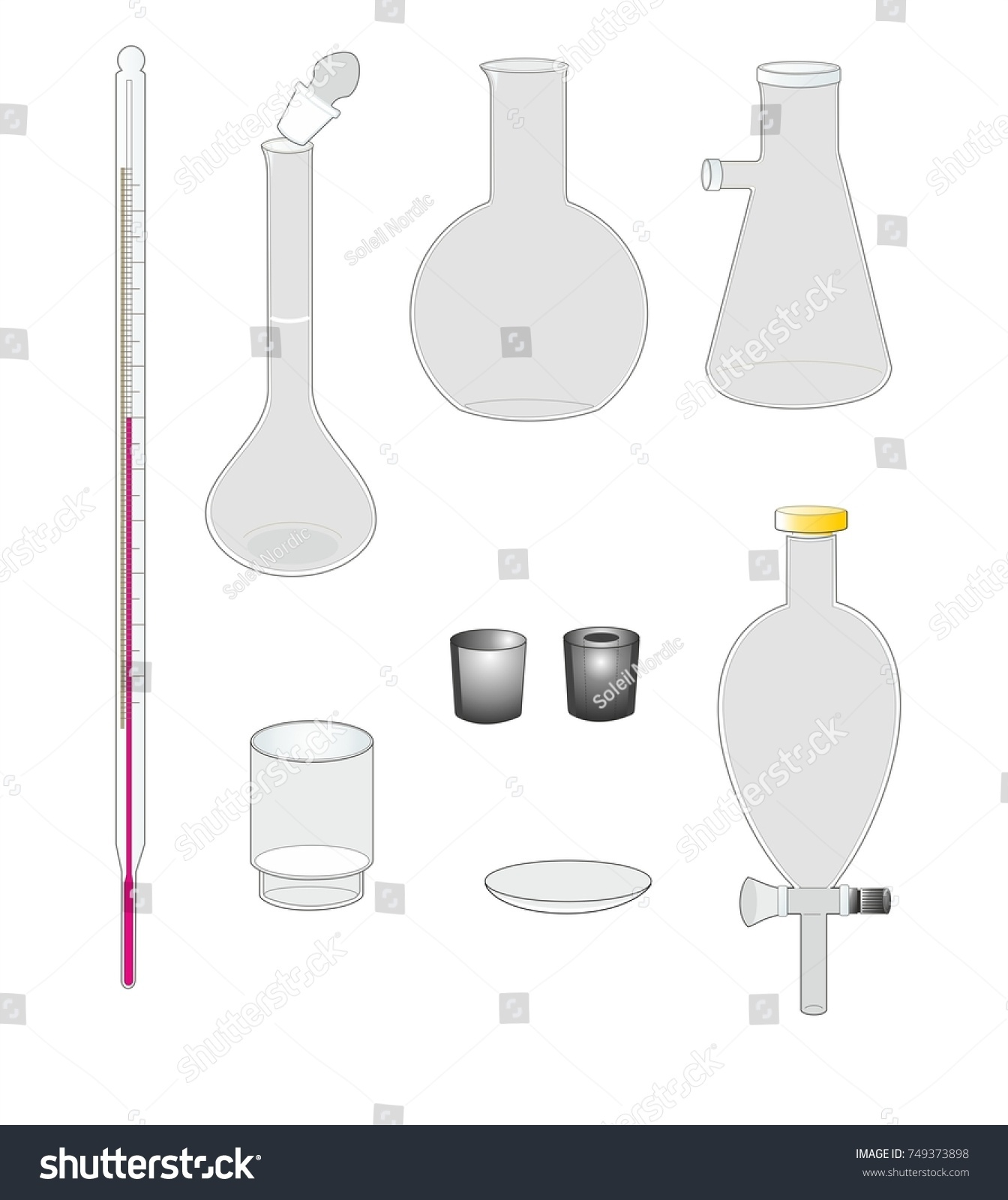 Chemistry experiment glassware photo
