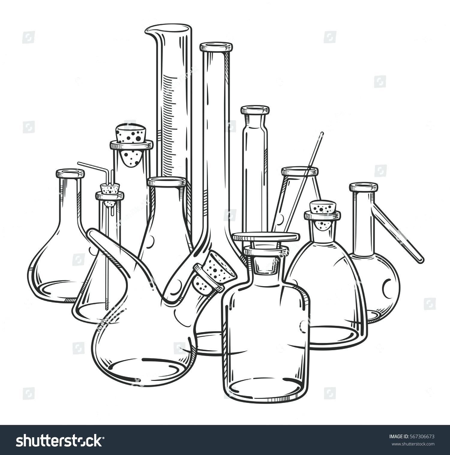 Chemistry Lab Drawing at GetDrawings.com | Free for personal use ...
