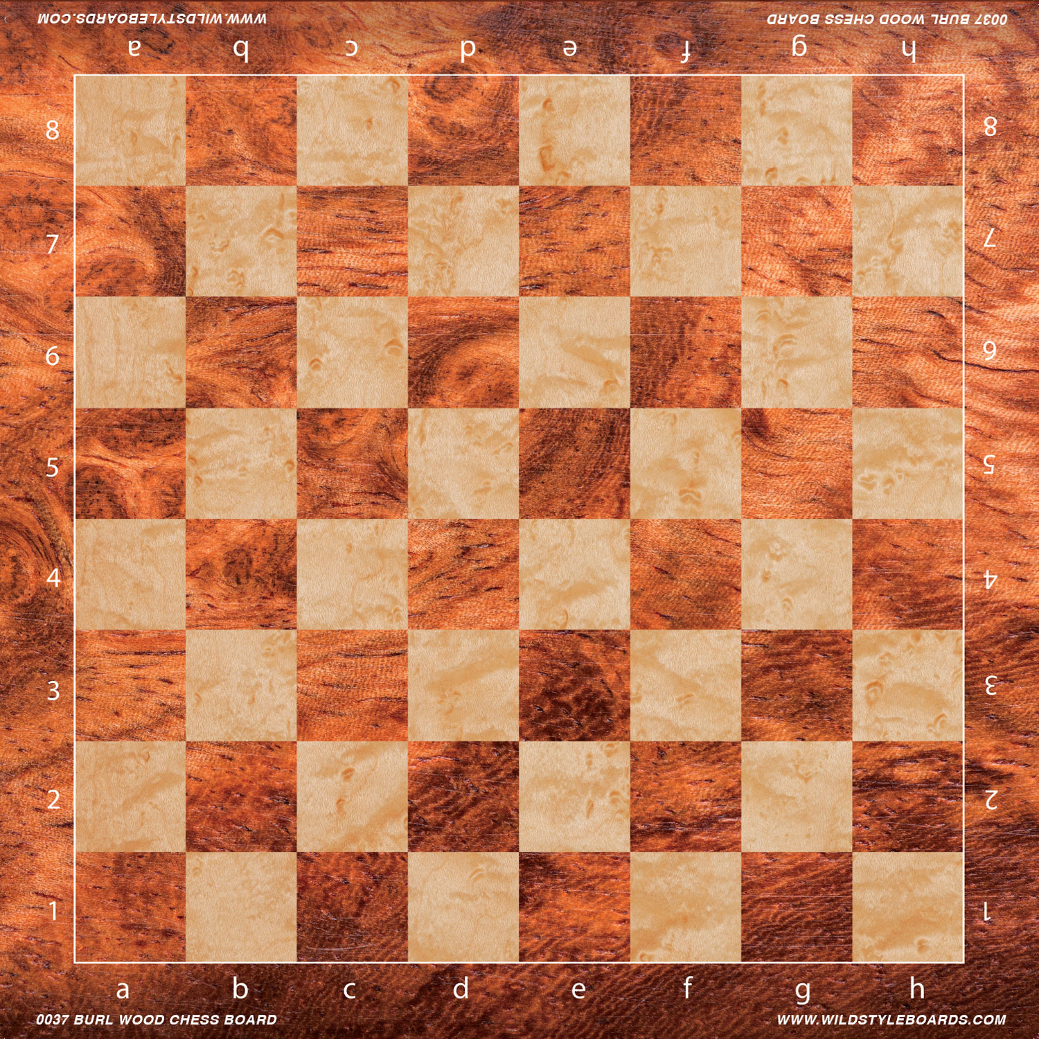 USCF Sales Burl Wood Chess Board - Full Color Vinyl Chess Board | eBay
