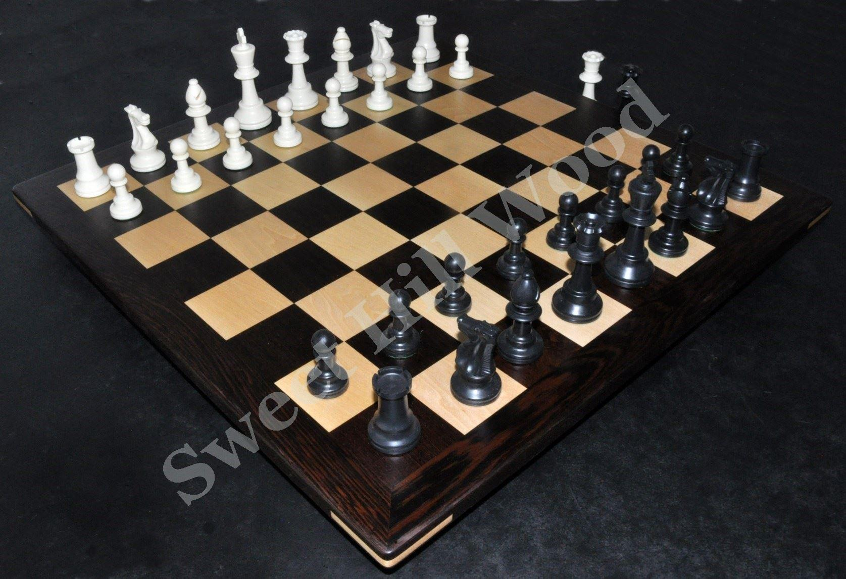 Sweet Hill Wood. Wenge Chess Board with 2¼ inch squares