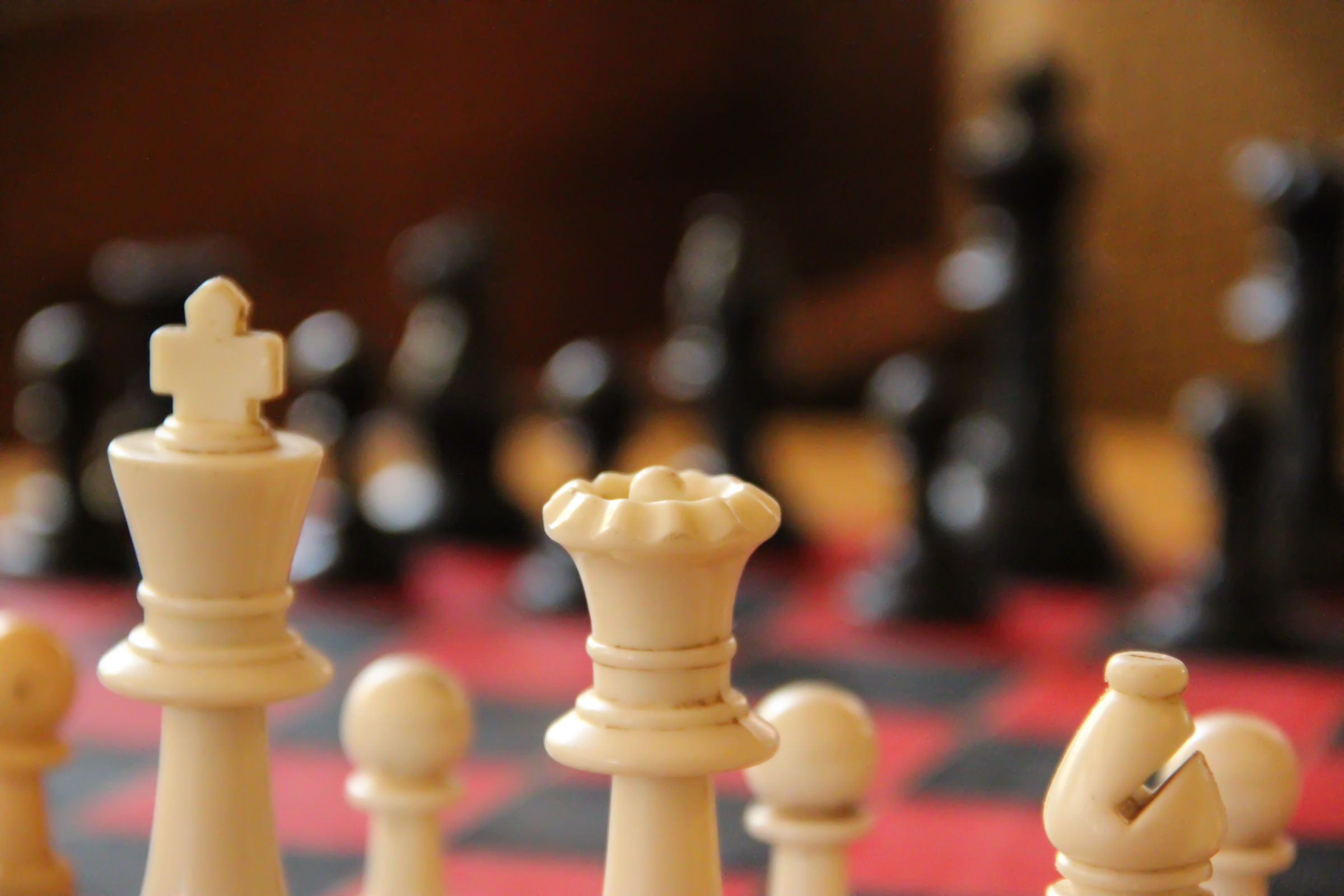 Free Stock Photo of Close Up of Chess Pieces on Chess Board