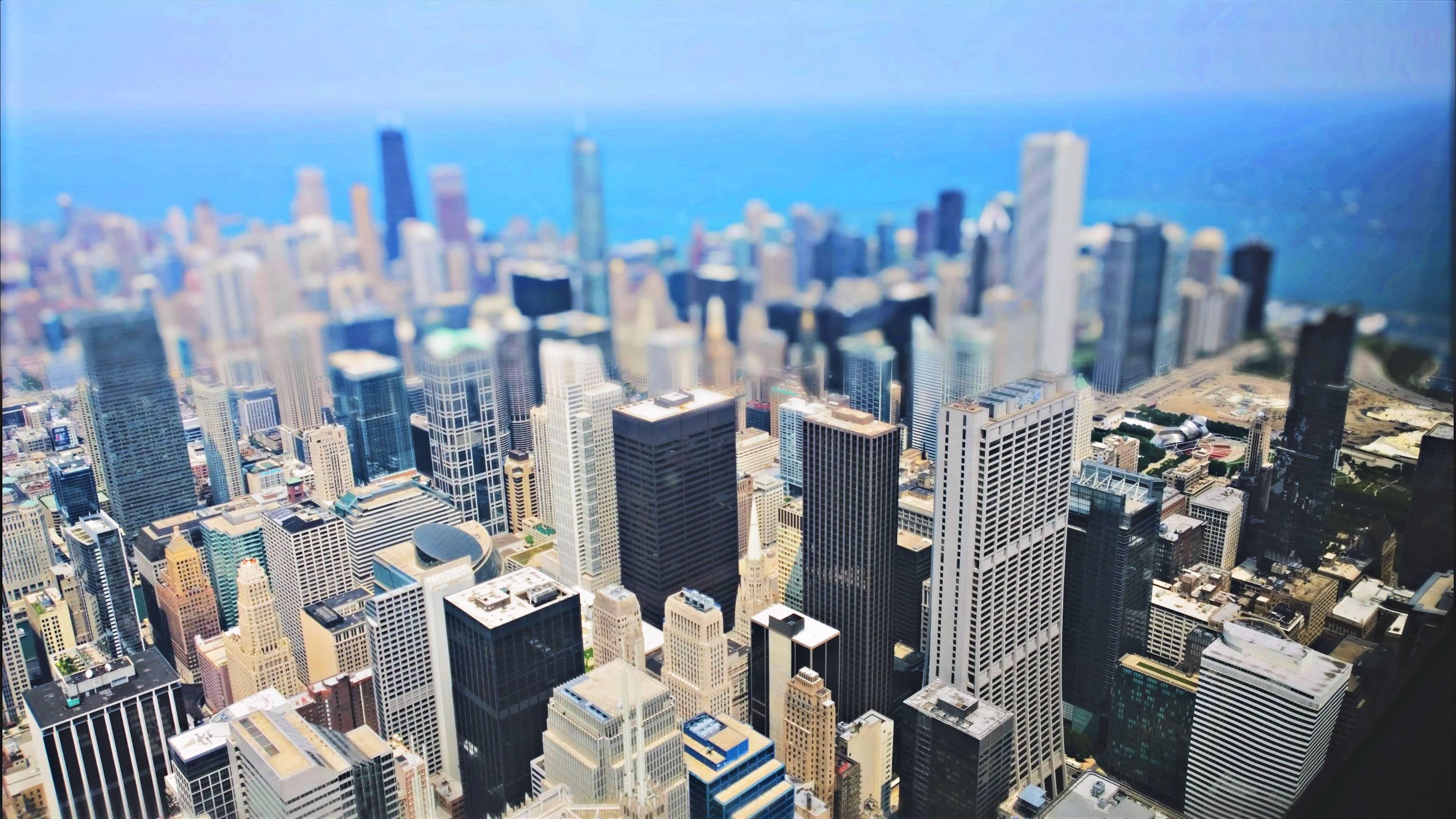 Chicago tilt shift photo