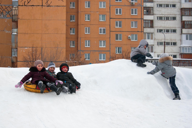 Children have fun, Active, Motion, White, Ufa, HQ Photo