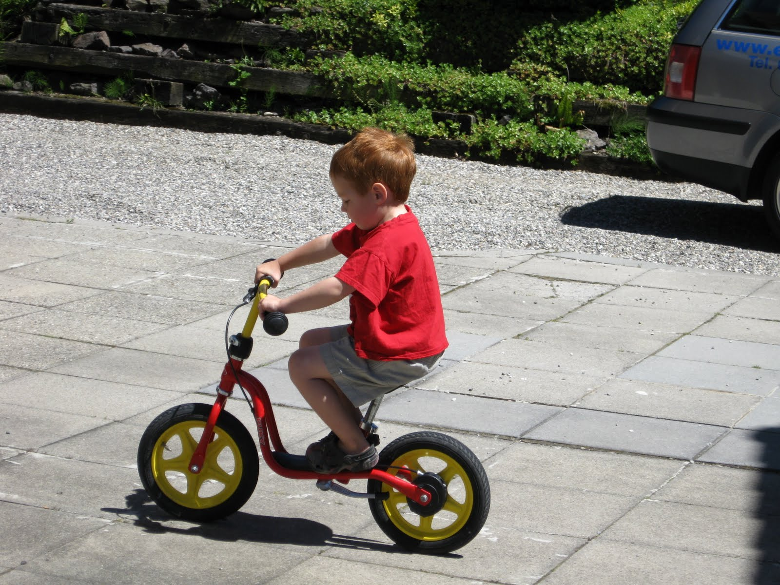 Children riding bicycle photo